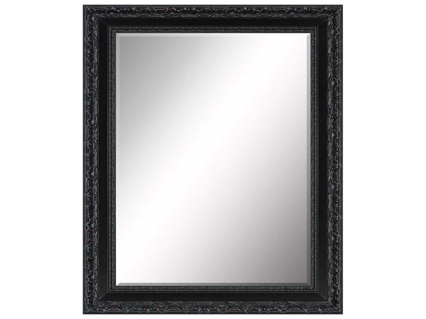 Paragon beveled 30 x 36 black subtle aging wall mirror for Mirror 30 x 36