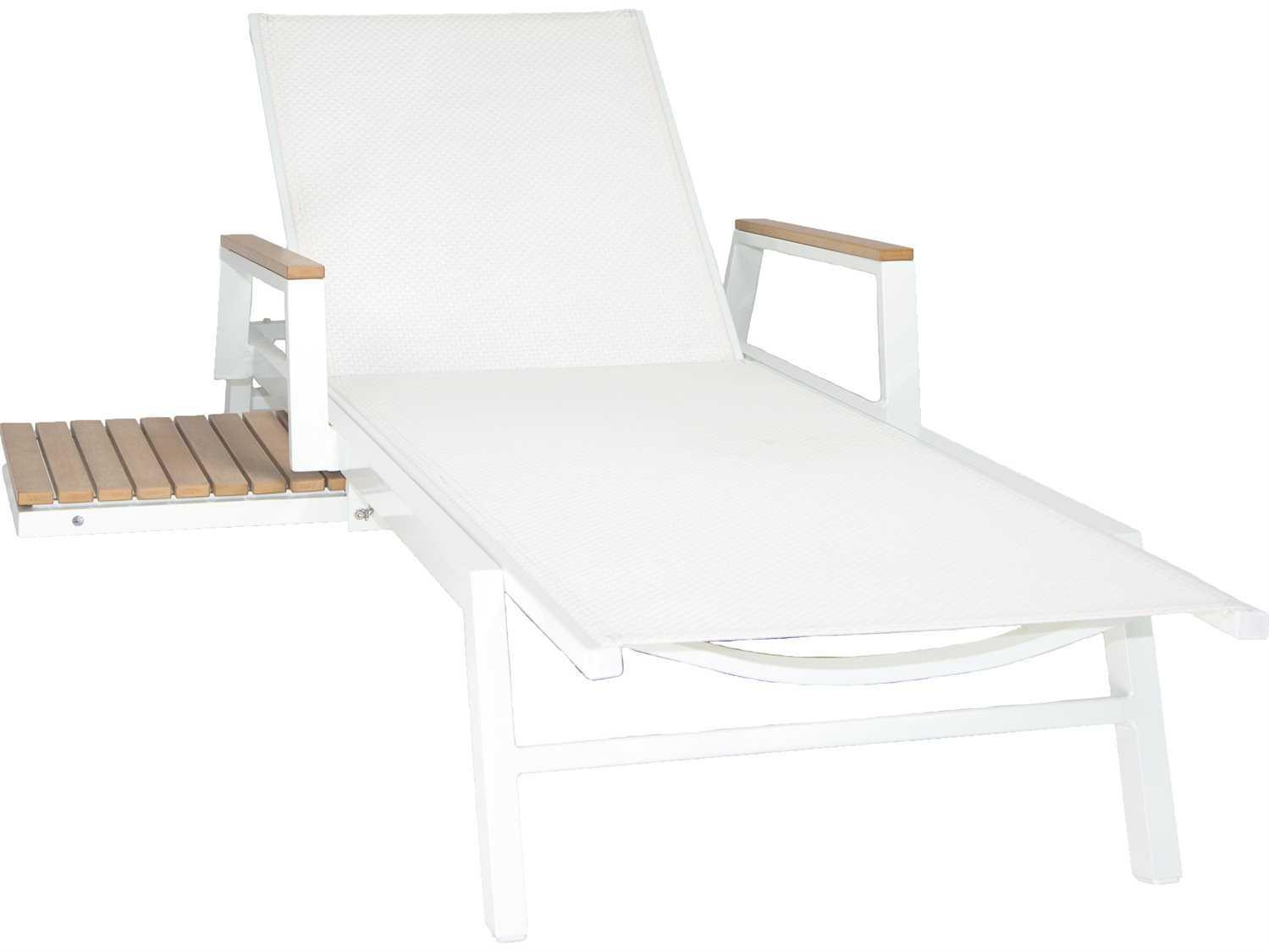 Patio heaven riviera aluminum chaise lounger jrx2291 1b for Patio heaven