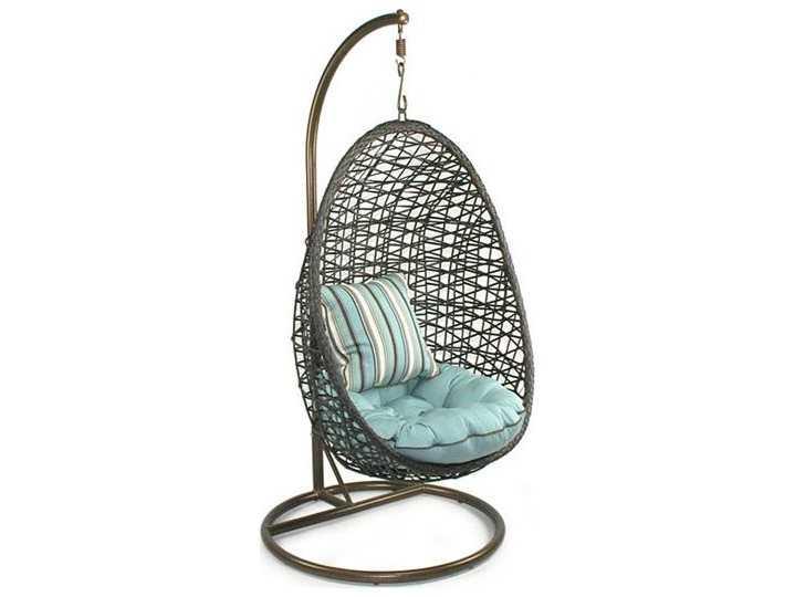 Patio heaven birds nest wicker hanging chair ph bnest for Patio heaven