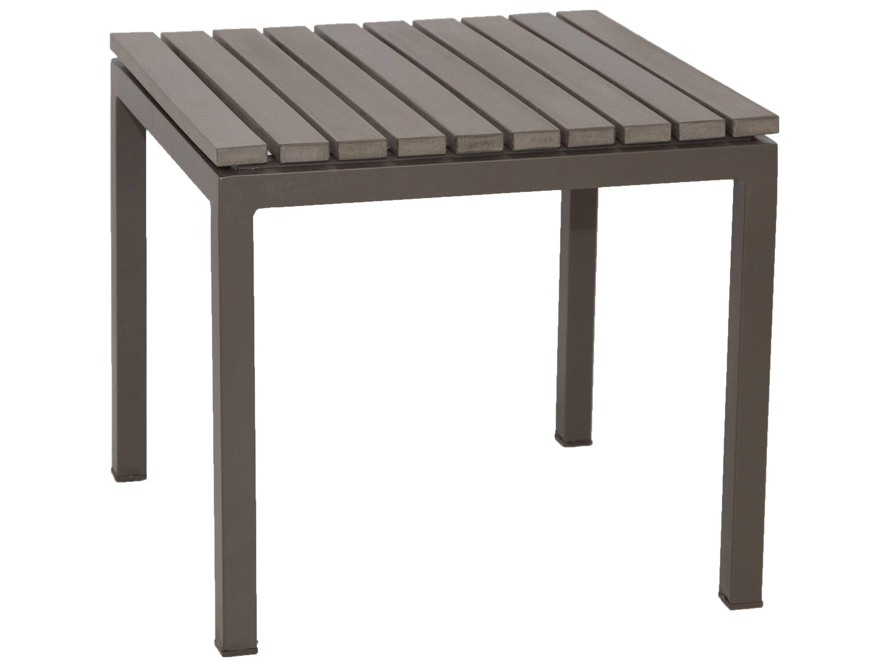 Patio heaven riviera aluminum 18 square end table tx2291 st2 for Patio heaven