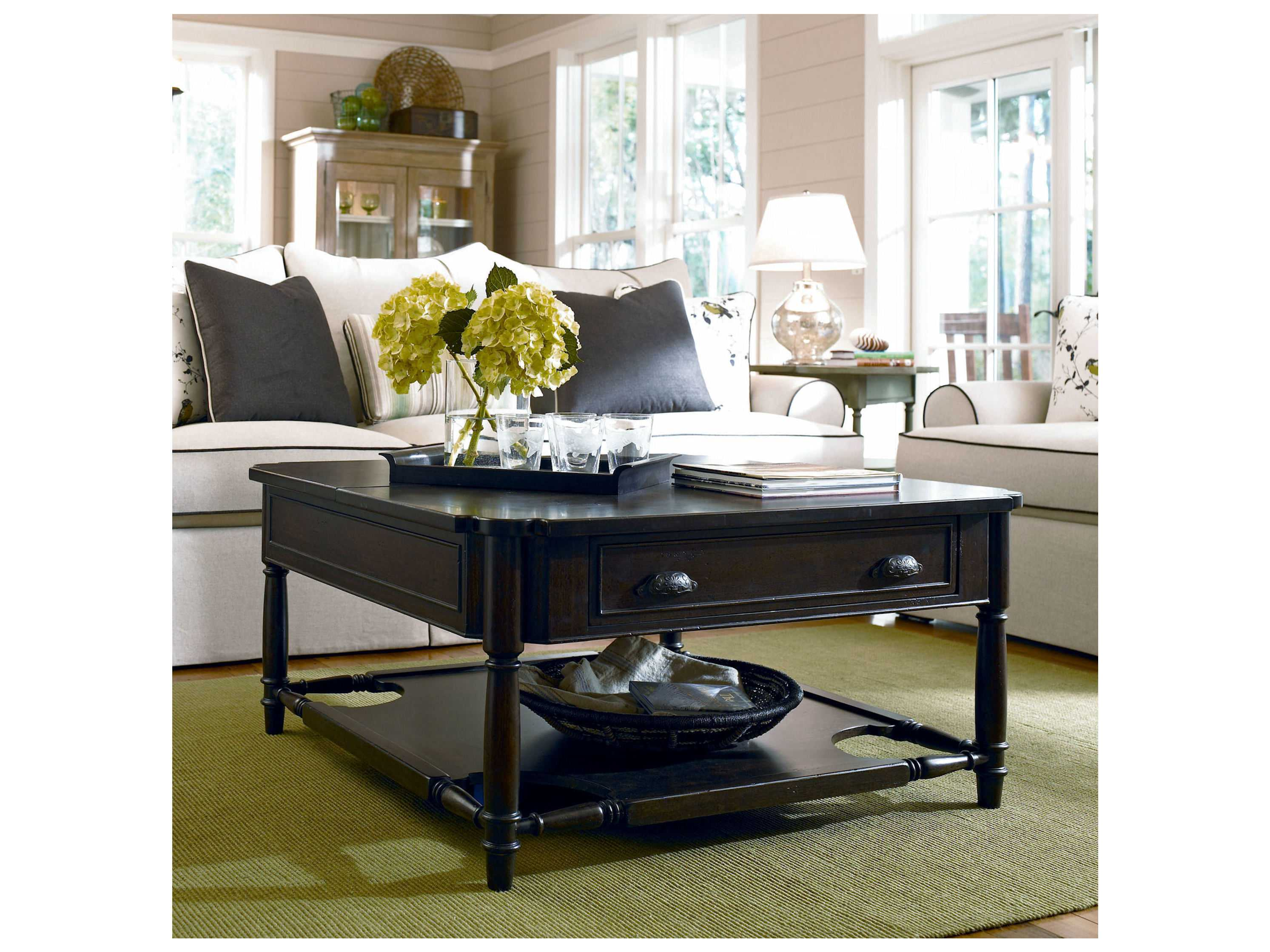 Paula Deen Home Down Home Molasses 42 39 39 Square Coffee Table 193801