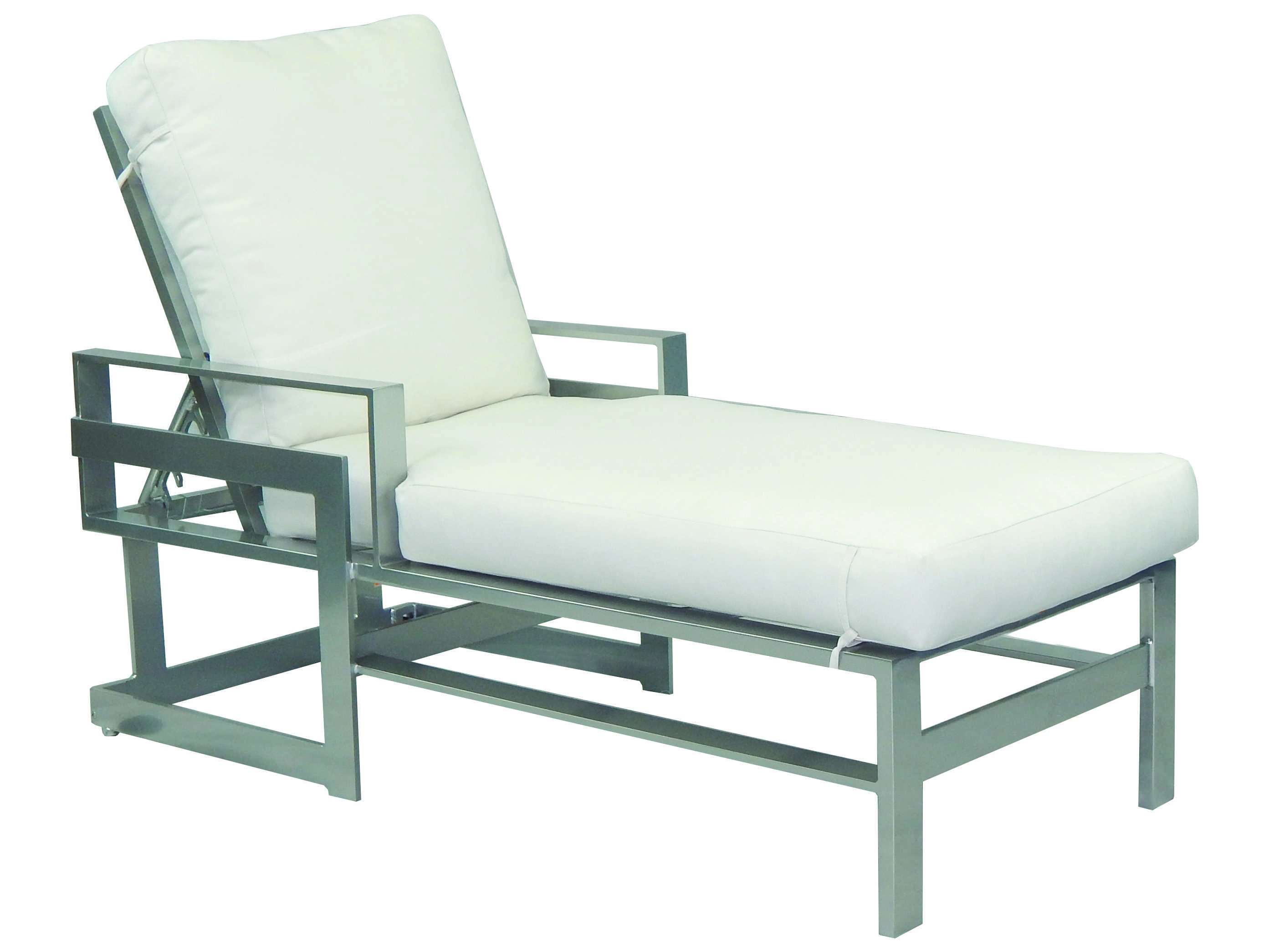Castelle eclipse cushion dining cast aluminum adjustable for Aluminum chaise lounge with wheels