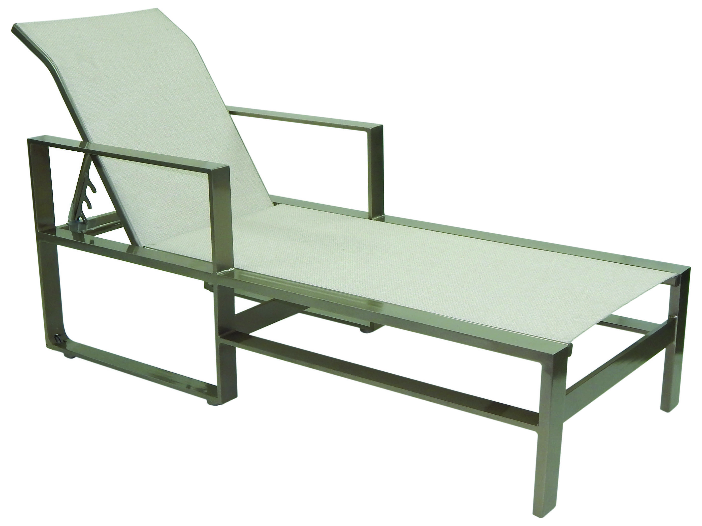 Castelle park place slin cast aluminum adjustable chaise for Cast aluminum chaise lounge