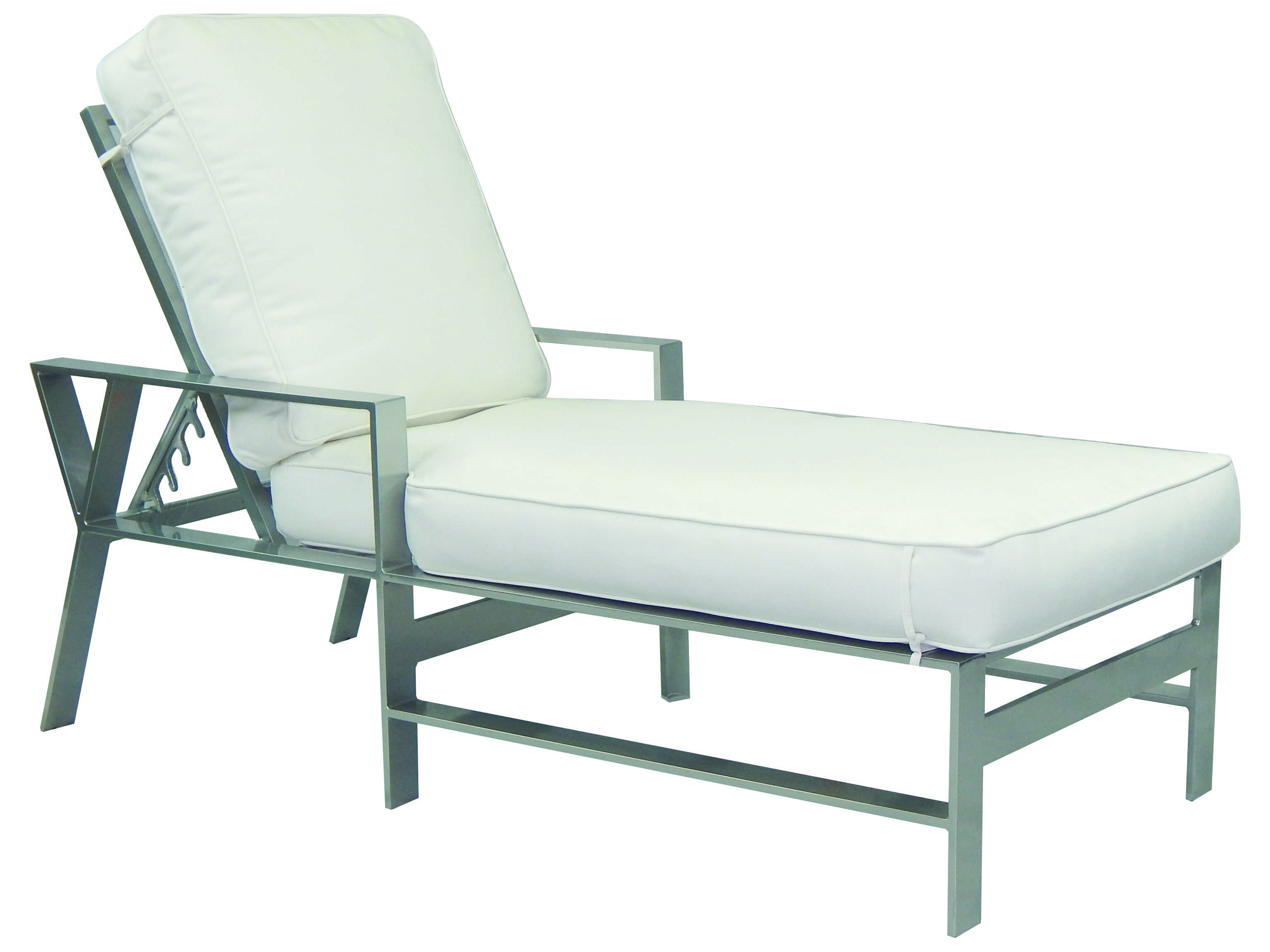 Castelle trento cushion dining cast aluminum adjustable for Aluminum chaise lounge with wheels