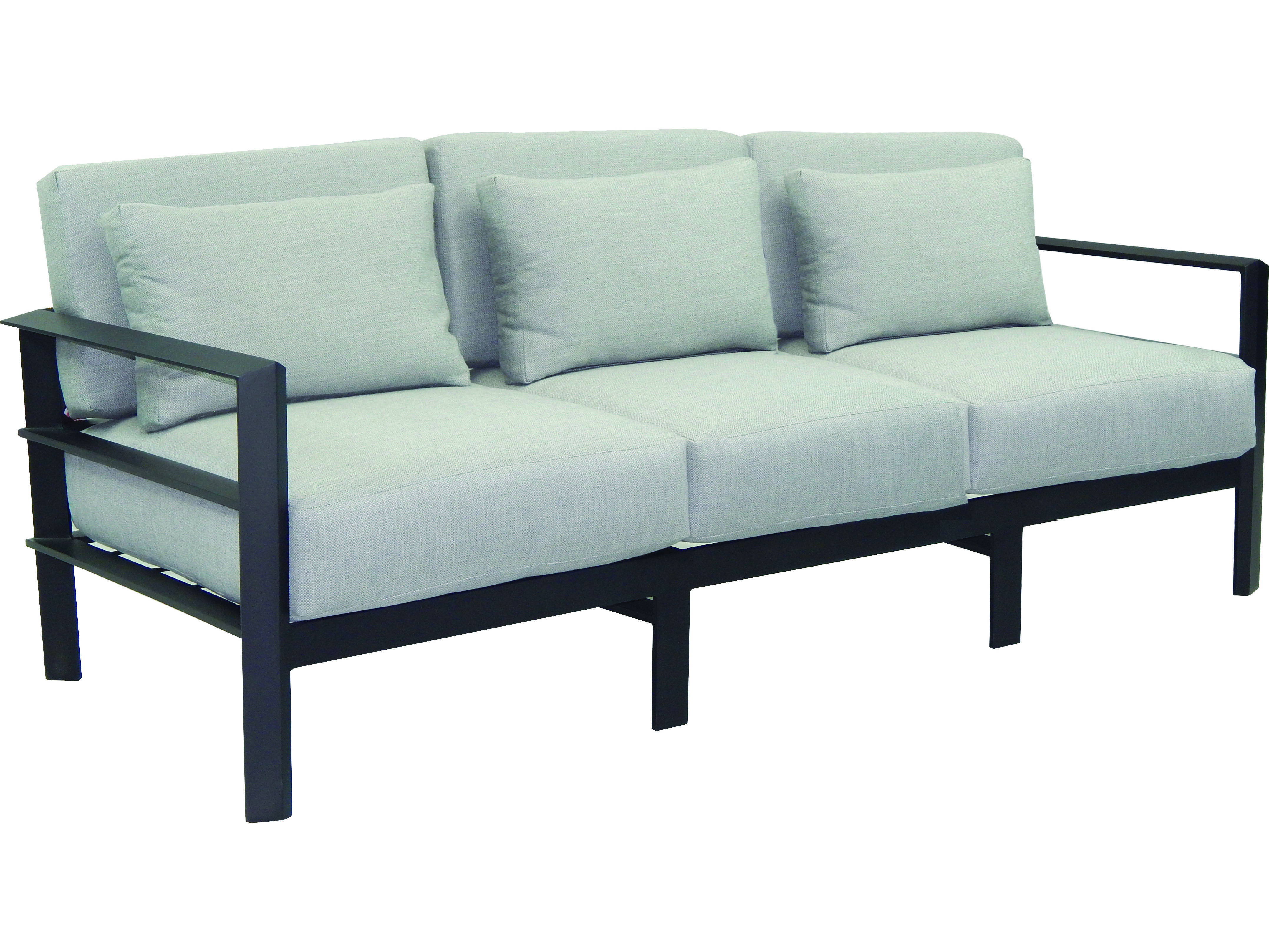Castelle Vertice City Deep Seating Aluminum Sofa with Three