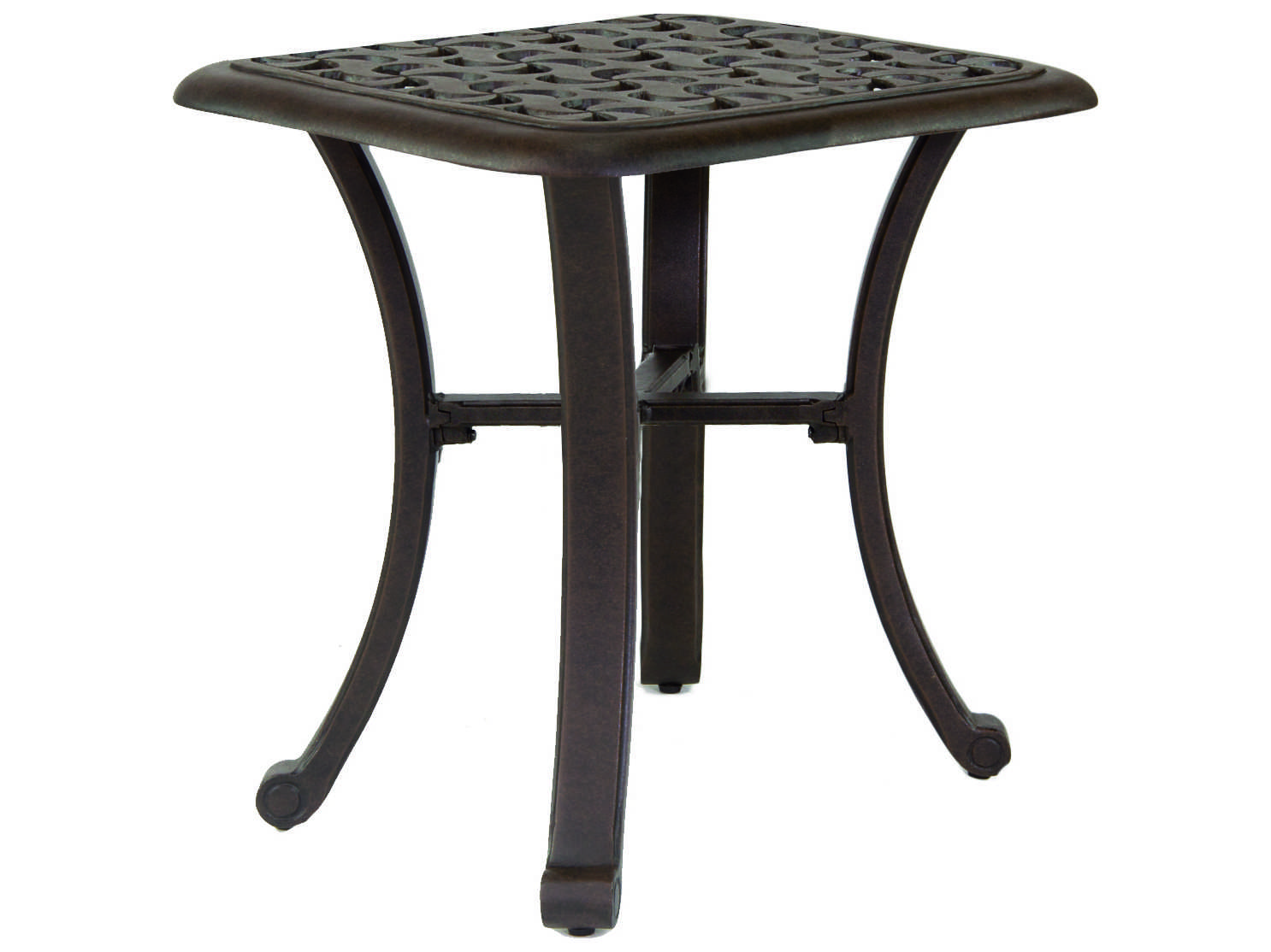 Castelle Sienna Cast Aluminum 20 Square Side Table Ready