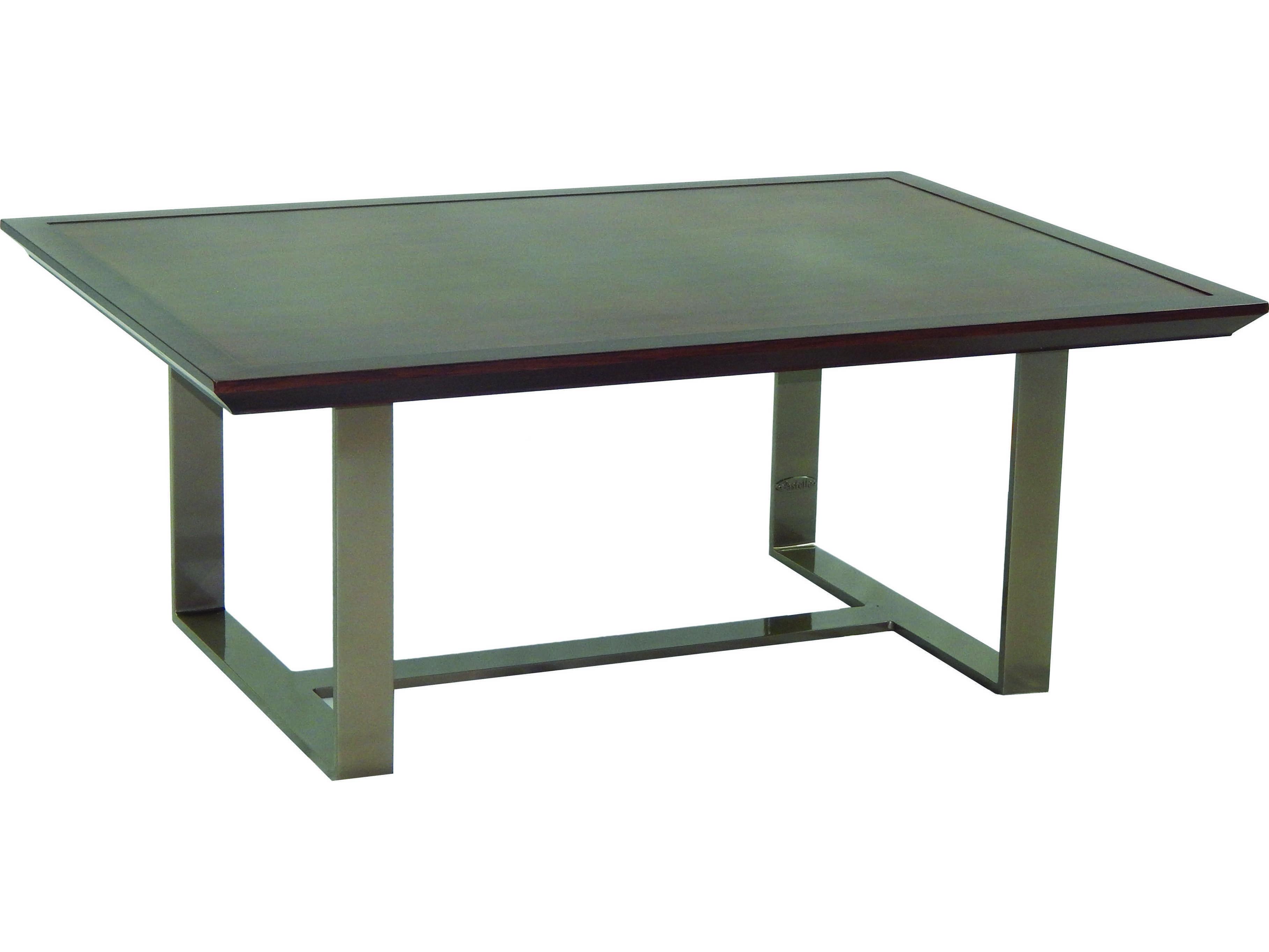 Castelle Moderna Cast Aluminum 42 X 30 Rectangular Coffee Table Hrc3042