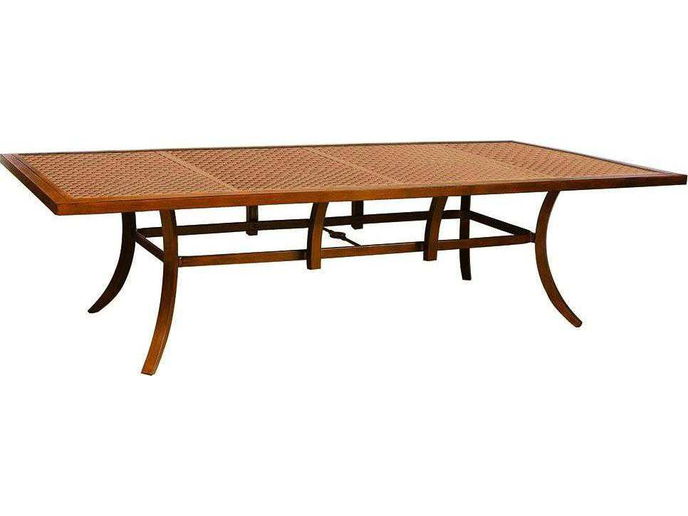 Castelle Transitional Cast Aluminum 108 X 54 Rectangular Dining Table Ready T