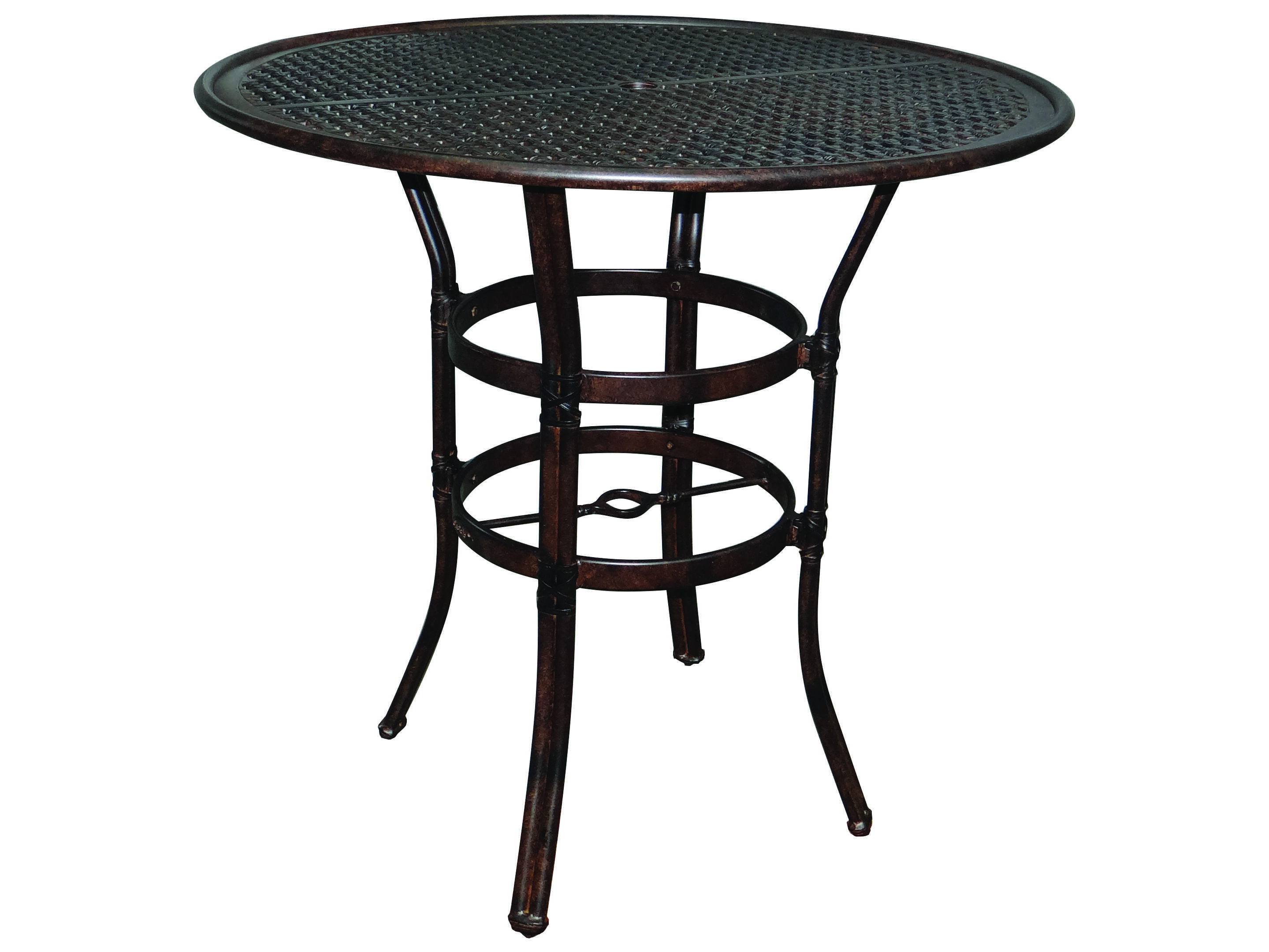 castelle resort cast aluminum 42 round bar height table ready to assemble lch42. Black Bedroom Furniture Sets. Home Design Ideas