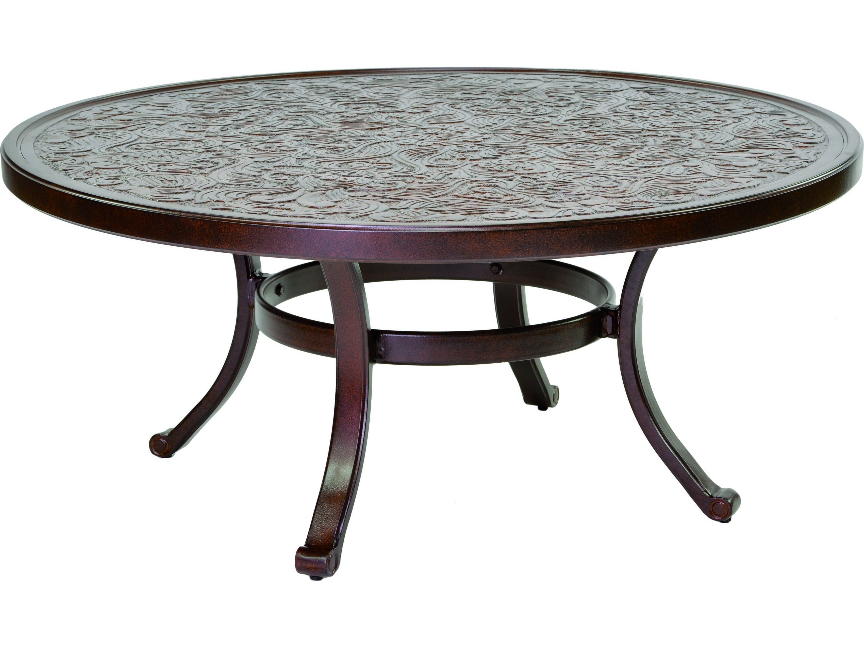 Castelle Vintage Cast Aluminum 42 44 Round Coffee Table
