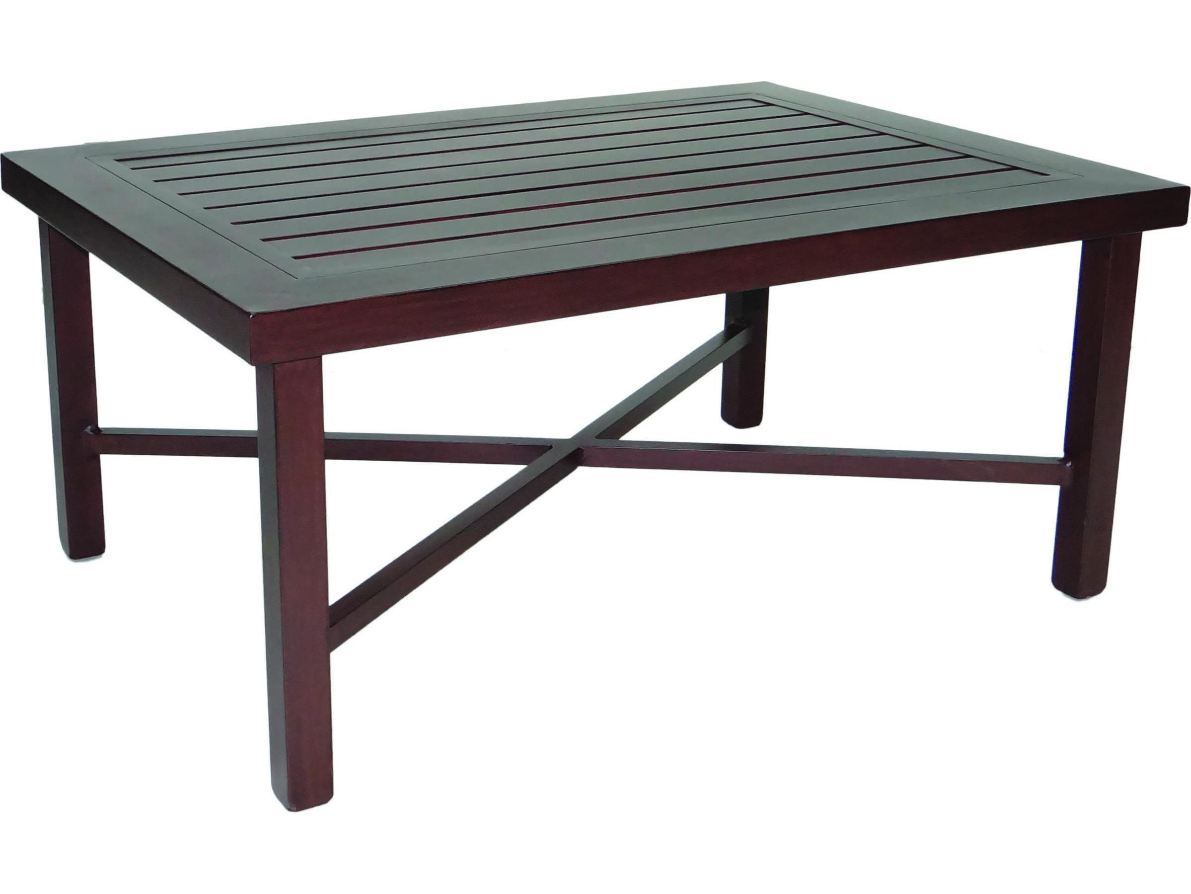 Castelle Contempo Cast Aluminum 42 X 30 Rectangular Coffee Table Ready To Assemble Prc3042e