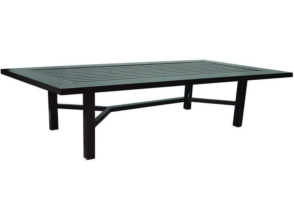 Castelle Contempo Cast Aluminum 108 X 43 5 Rectangular Dining Table PRDK108