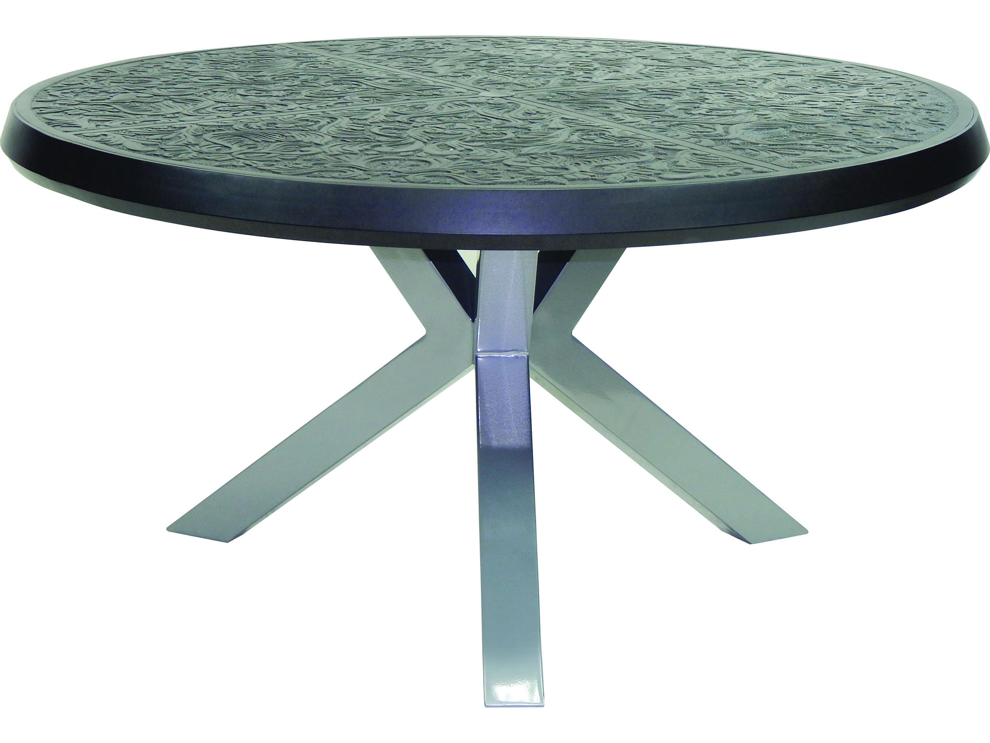 Castelle Altra Cast Aluminum 54 Round Dining Table TCG54