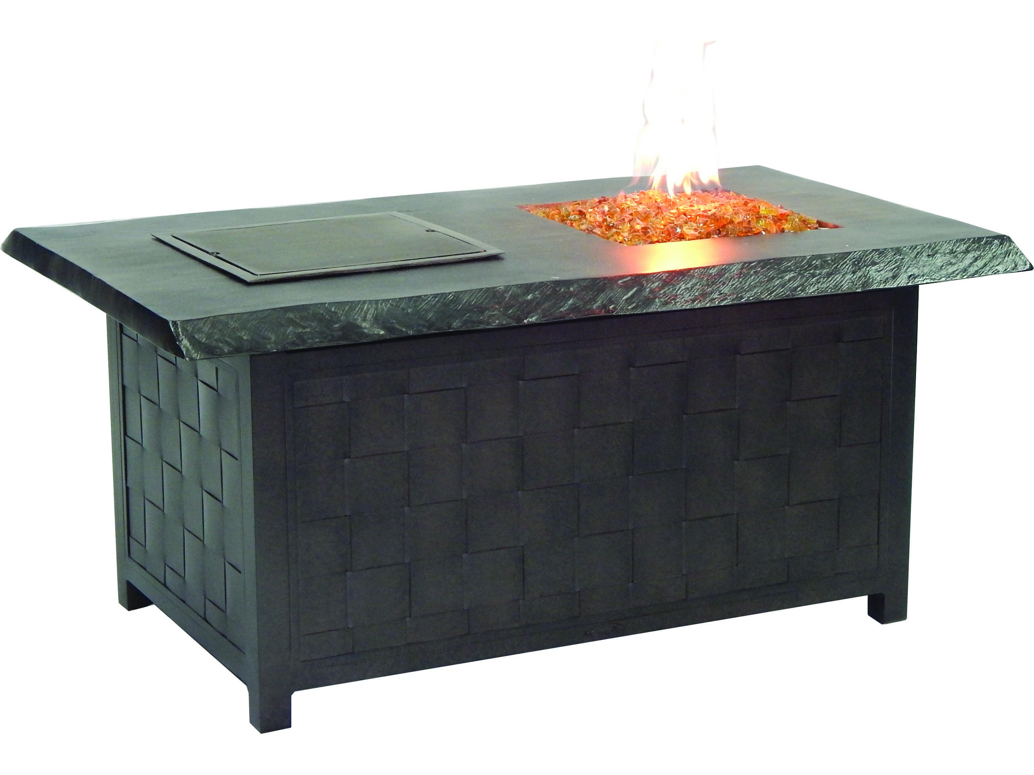 Castelle Classical Firepits Aluminum 52 X 36 Rectangular