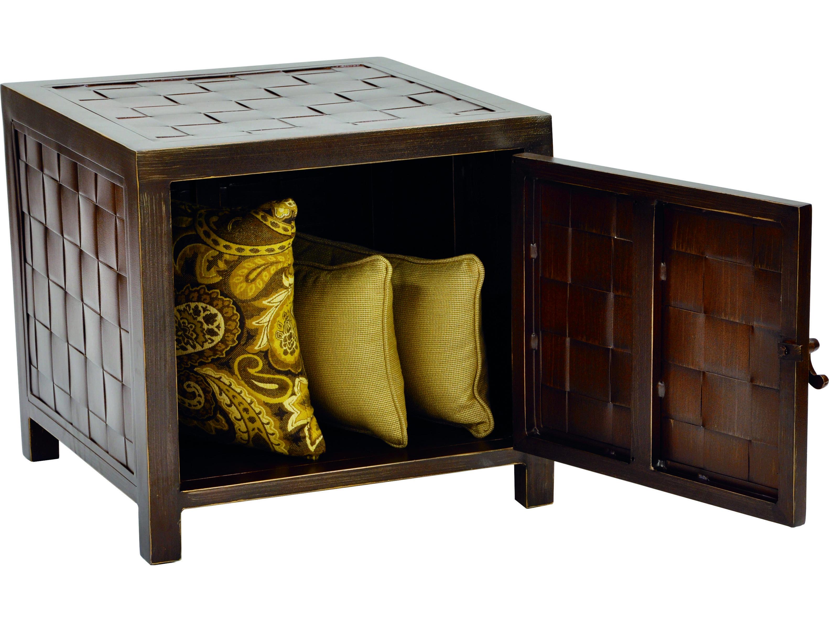 Castelle Cast Aluminum 20 Square Storage End Table VSS20 : PFVSS202zm from luxedecor.com size 3163 x 2373 jpeg 1667kB