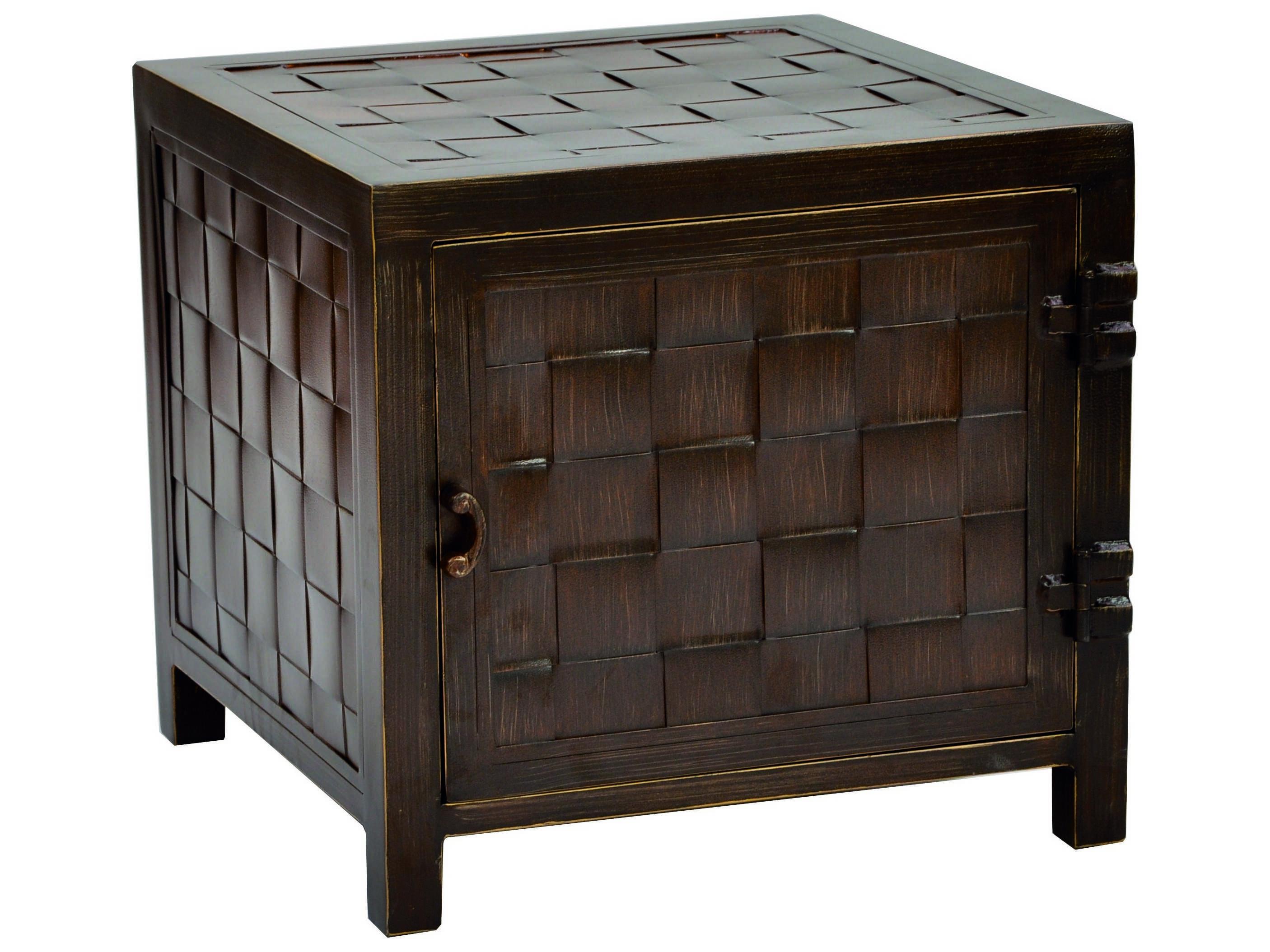 Castelle aluminum 20 square storage end table vss20 End tables with storage