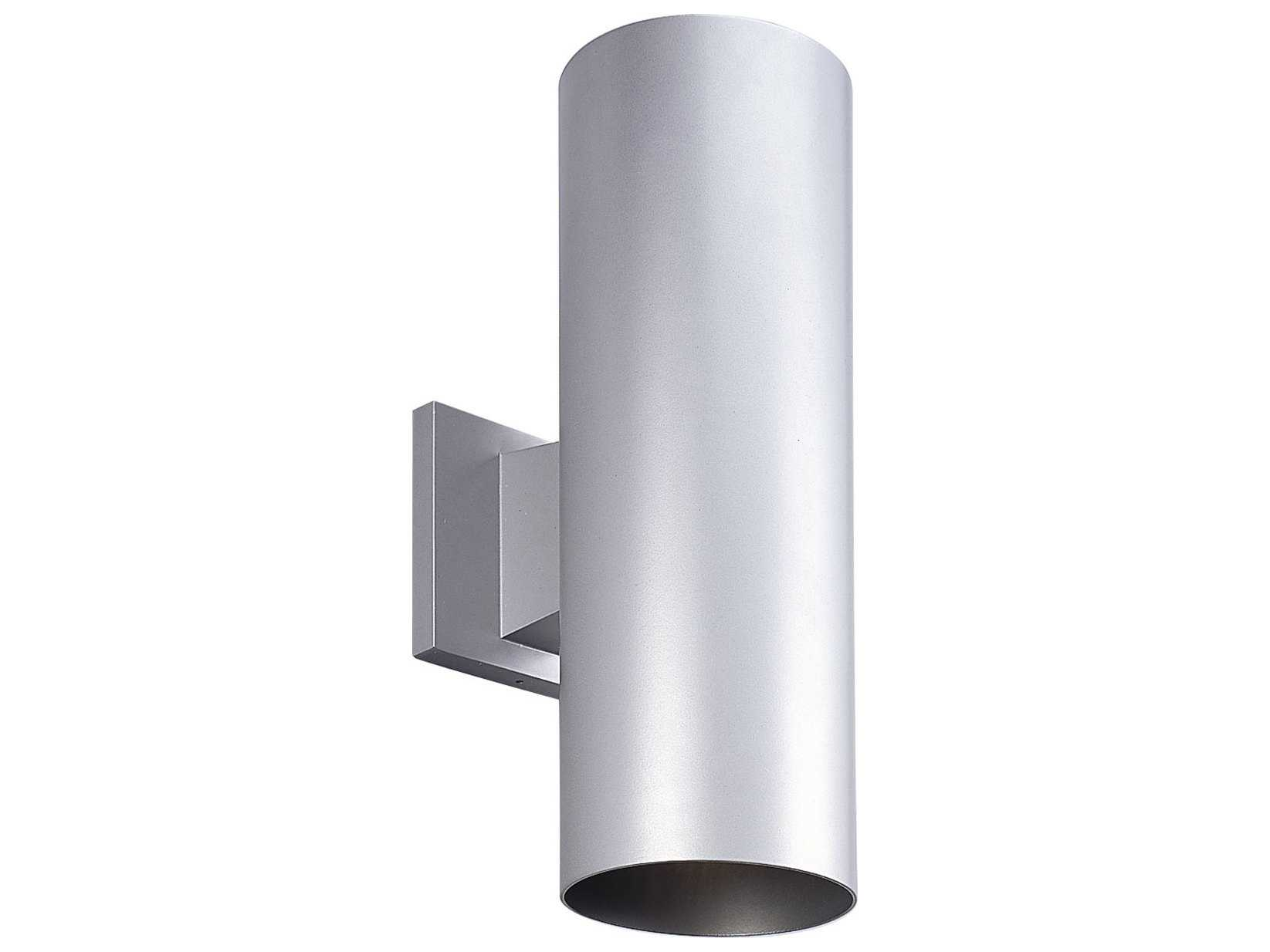 Progress Lighting Cylinder Metallic Gray Two Light LED Outdoor Wall Light P
