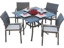 Panama Jack Newport Beach Wicker 5 PC Armchair Dining Set