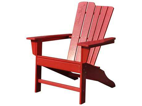 Panama Jack Red Adirondack Resin Chair