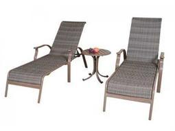 Panama Jack Island Cove Aluminum Three Piece Chaise Lounge set