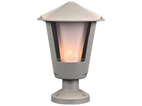 PLC Lighting Silva Silver Fluorescent-GU24 Outdoor Wall Light