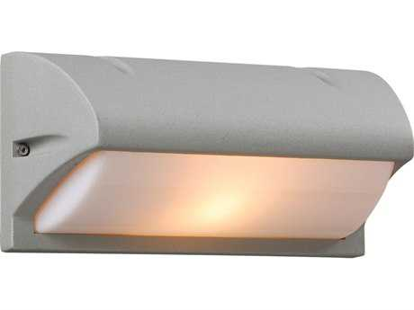 PLC Lighting Amberes Silver Fluorescent-GU24 Outdoor Wall Light (Sold in 2)