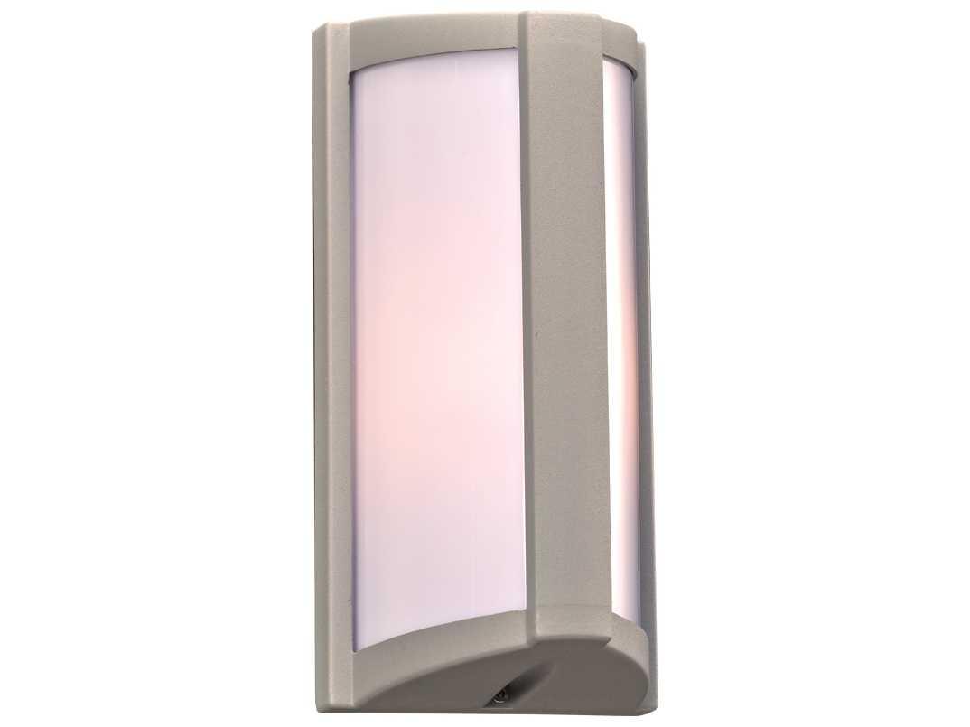 PLC Lighting Lukas Silver Fluorescent GU24 Outdoor Wall Light 2702SL118GU24
