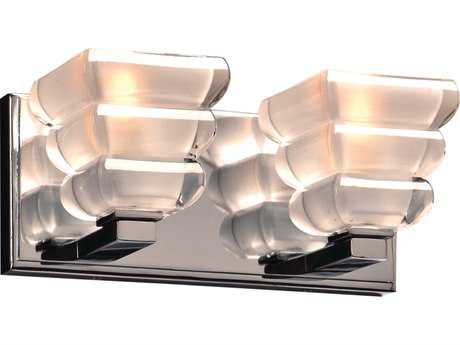 PLC Lighting Titan Polished Chrome Two-Light Incandescent Wall Sconce