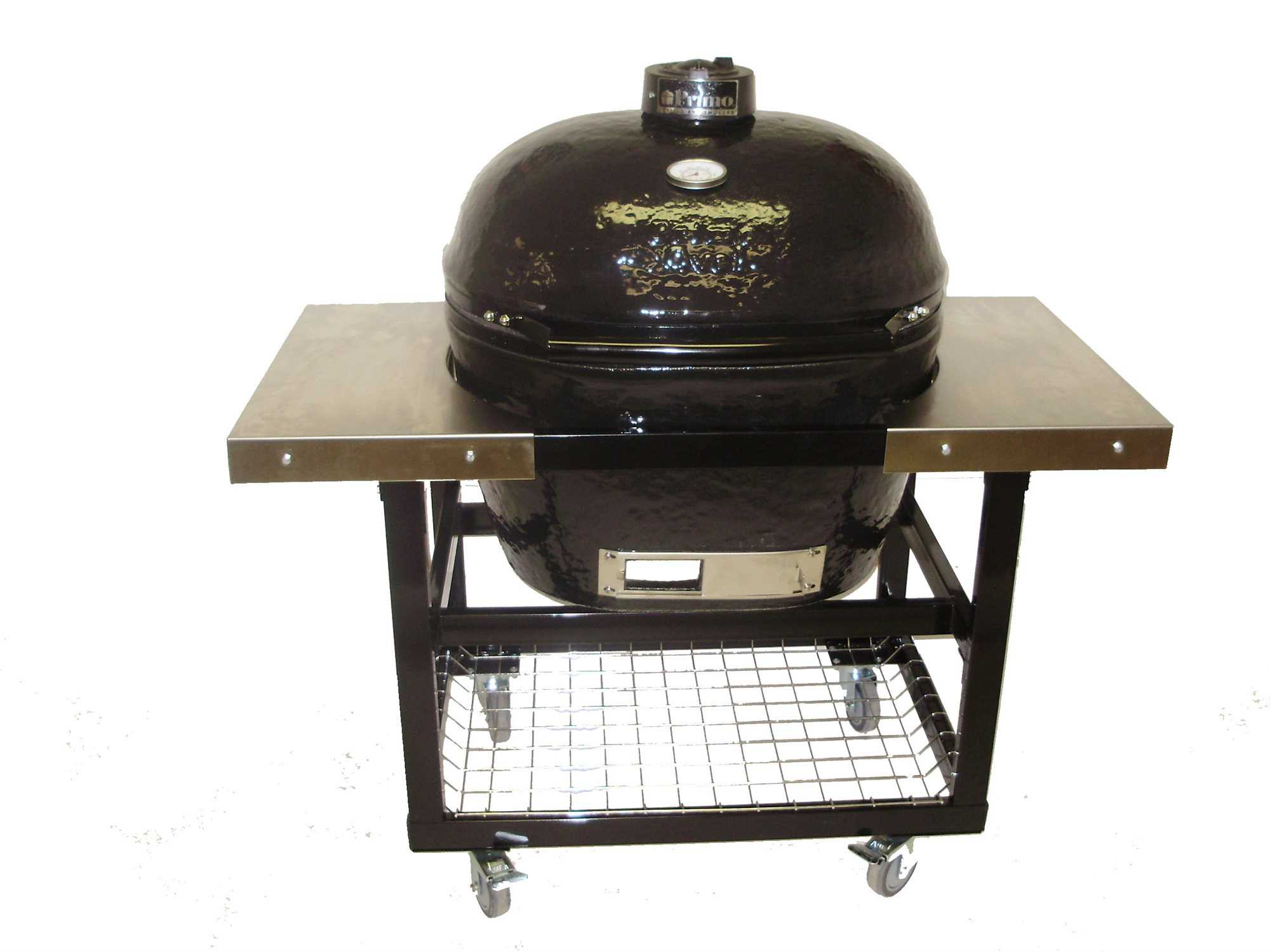 Primo Grills Oval (200) JR In Stainless Steel Cart