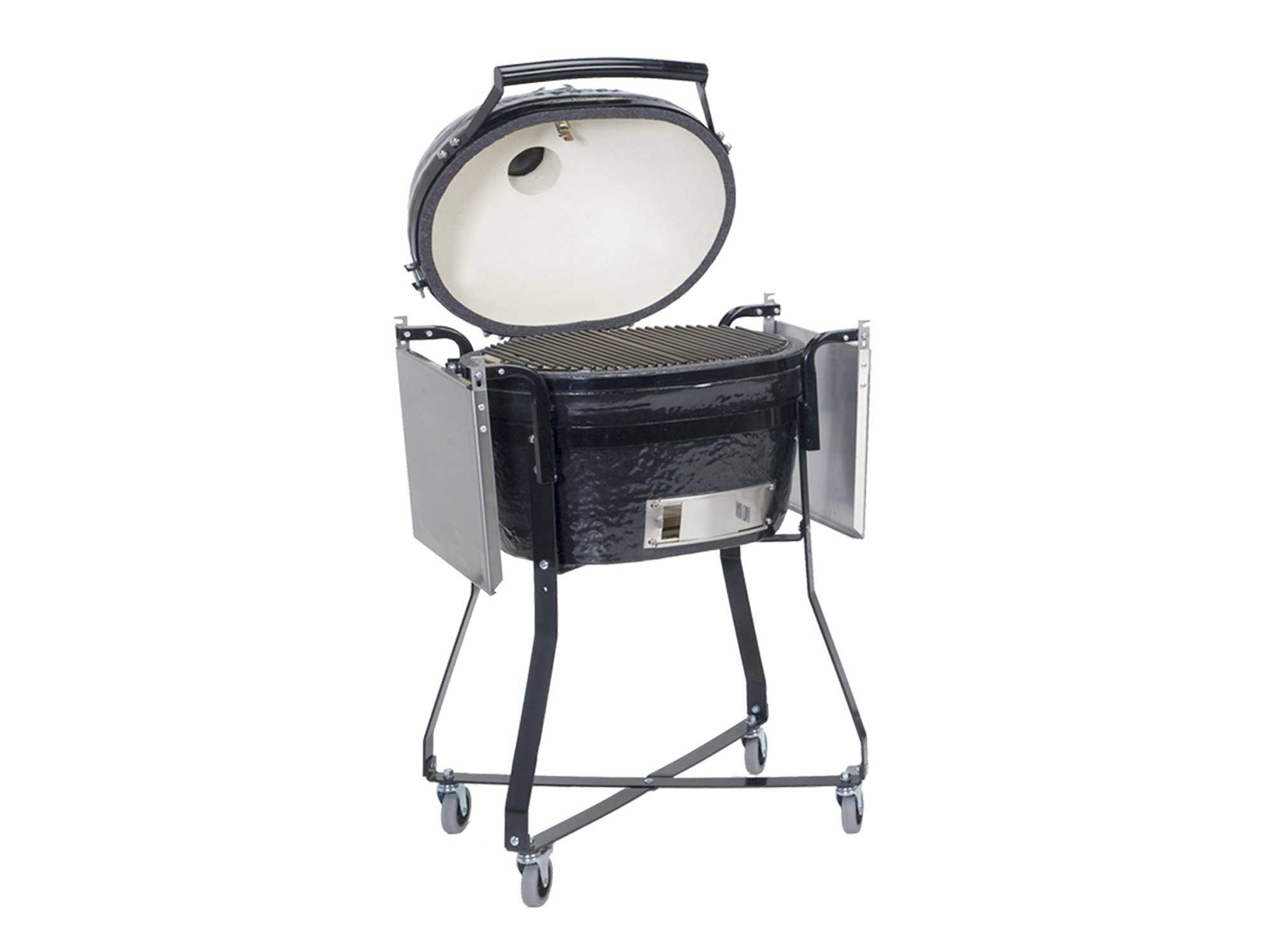Primo Oval 200 Jr Ceramic Smoker Grill In Caddie With