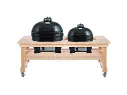 Primo Ceramic Smokers Oval (400) XL and Oval Junior In Cypress Table