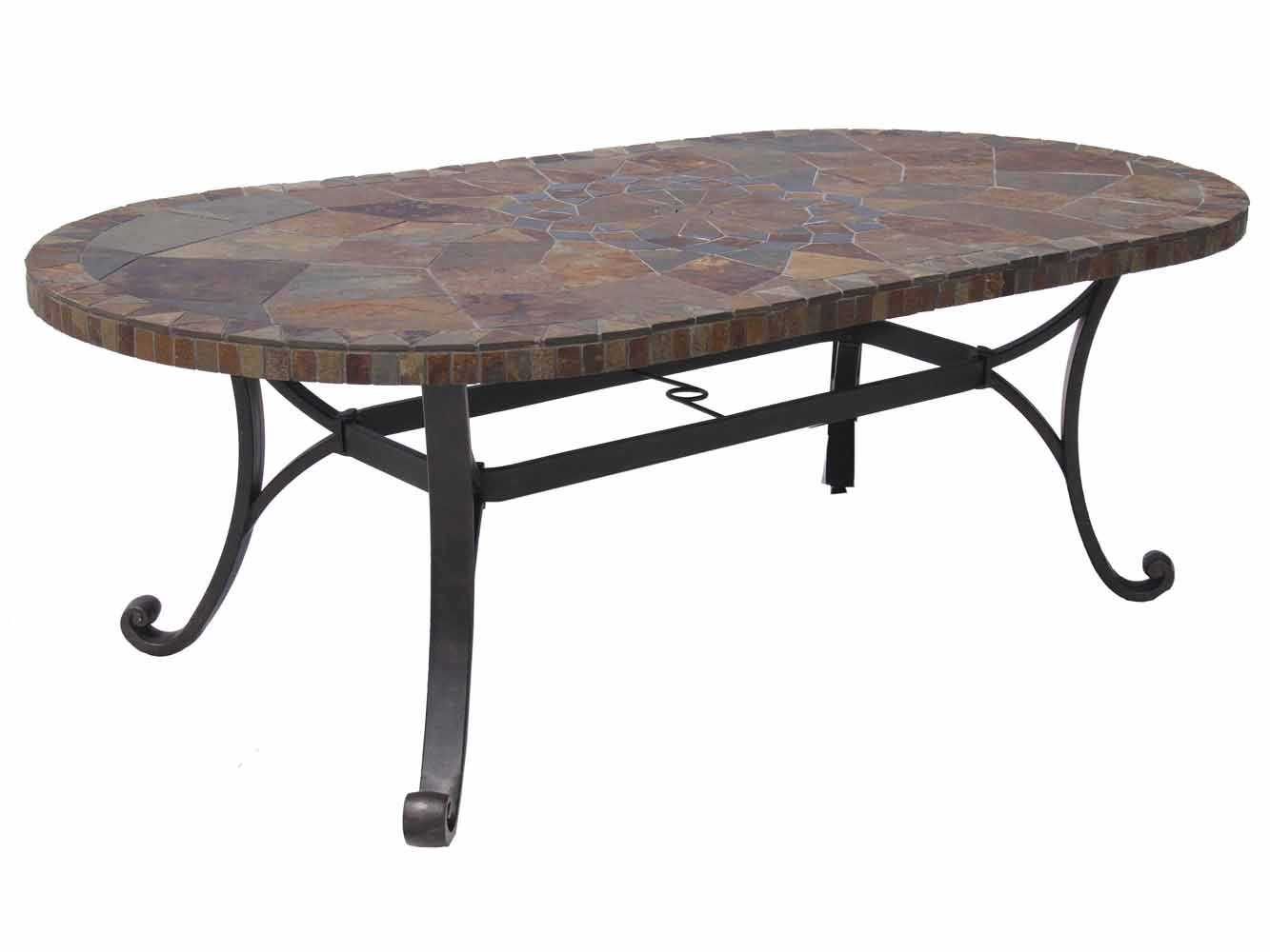 Paragon Casual Carlisa Cast Aluminum 84 X 44 Oval Dining Table