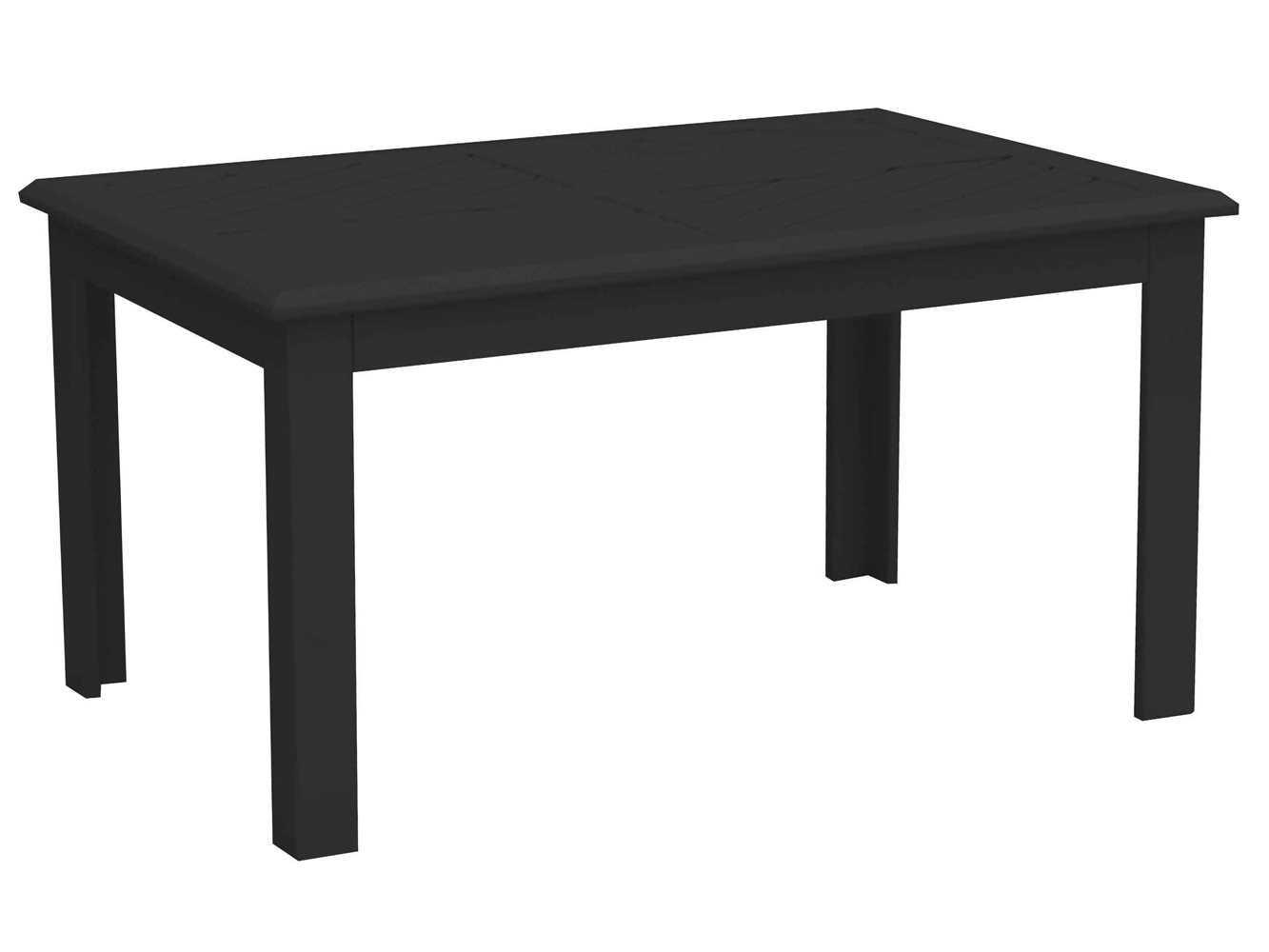 Paragon casual talia aluminum 36 x 24 rectangular coffee for 24 x 24 coffee table