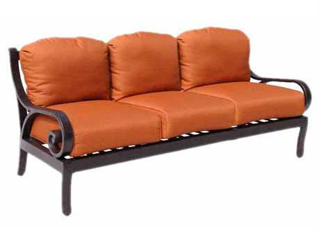 Paragon Casual Carlisa Cast Aluminum Club Sofa