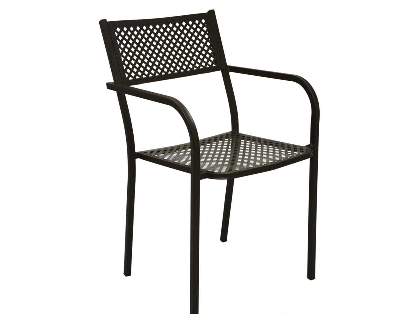 Paragon casual marion wrought iron dining arm chair c
