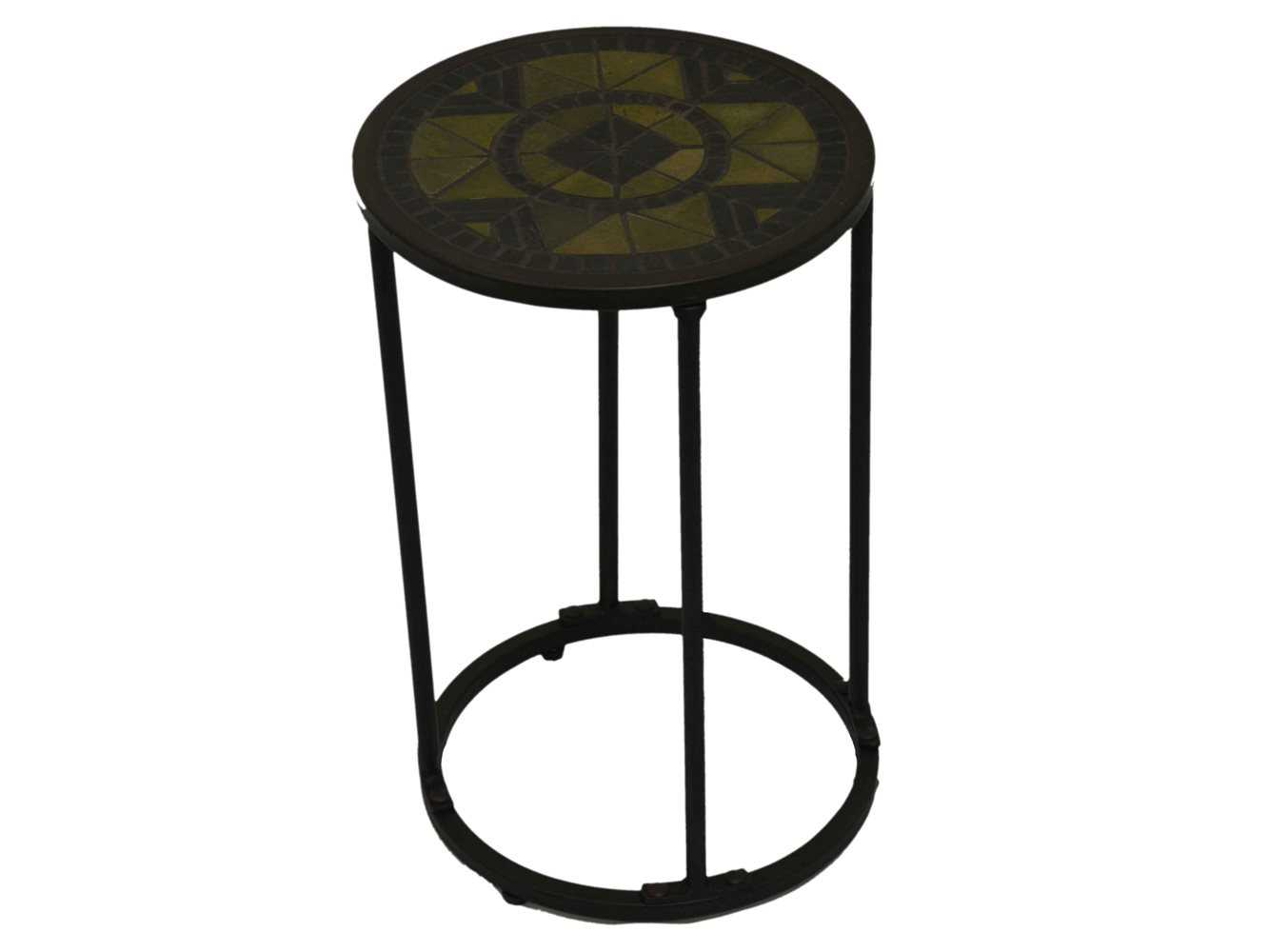 Paragon casual odell wrought iron 12 round flora accent for 12 inch round side table