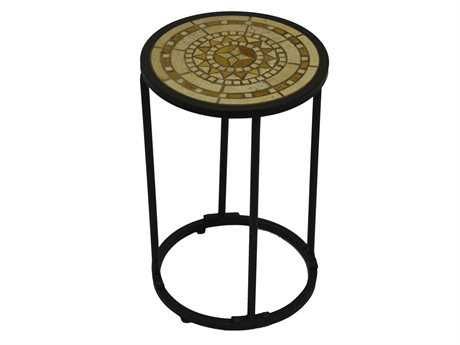 Paragon Casual Odell Wrought Iron 12 Round Tuberose Accent Table