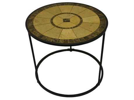 Paragon Casual Odell Wrought Iron 24 Round Freesia Accent Table