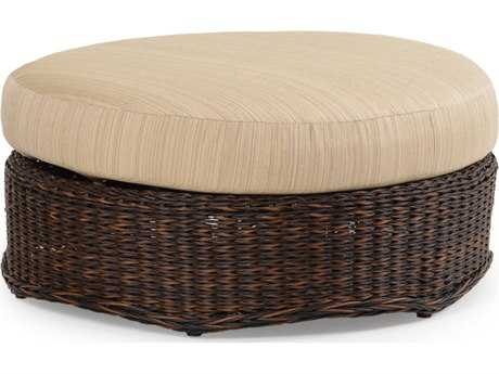 Palm Springs Rattan 4300 Series Round Ottoman W Cushion