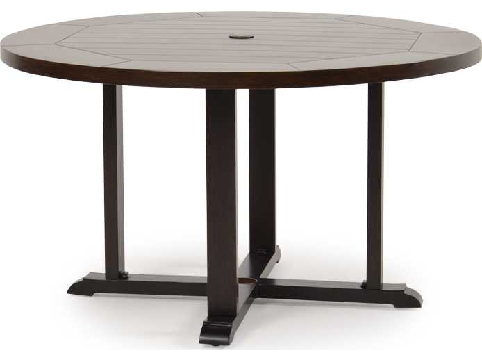 Aluminum 4300 Series 28 5 X 50 Round Sequoia Dining Table 4350