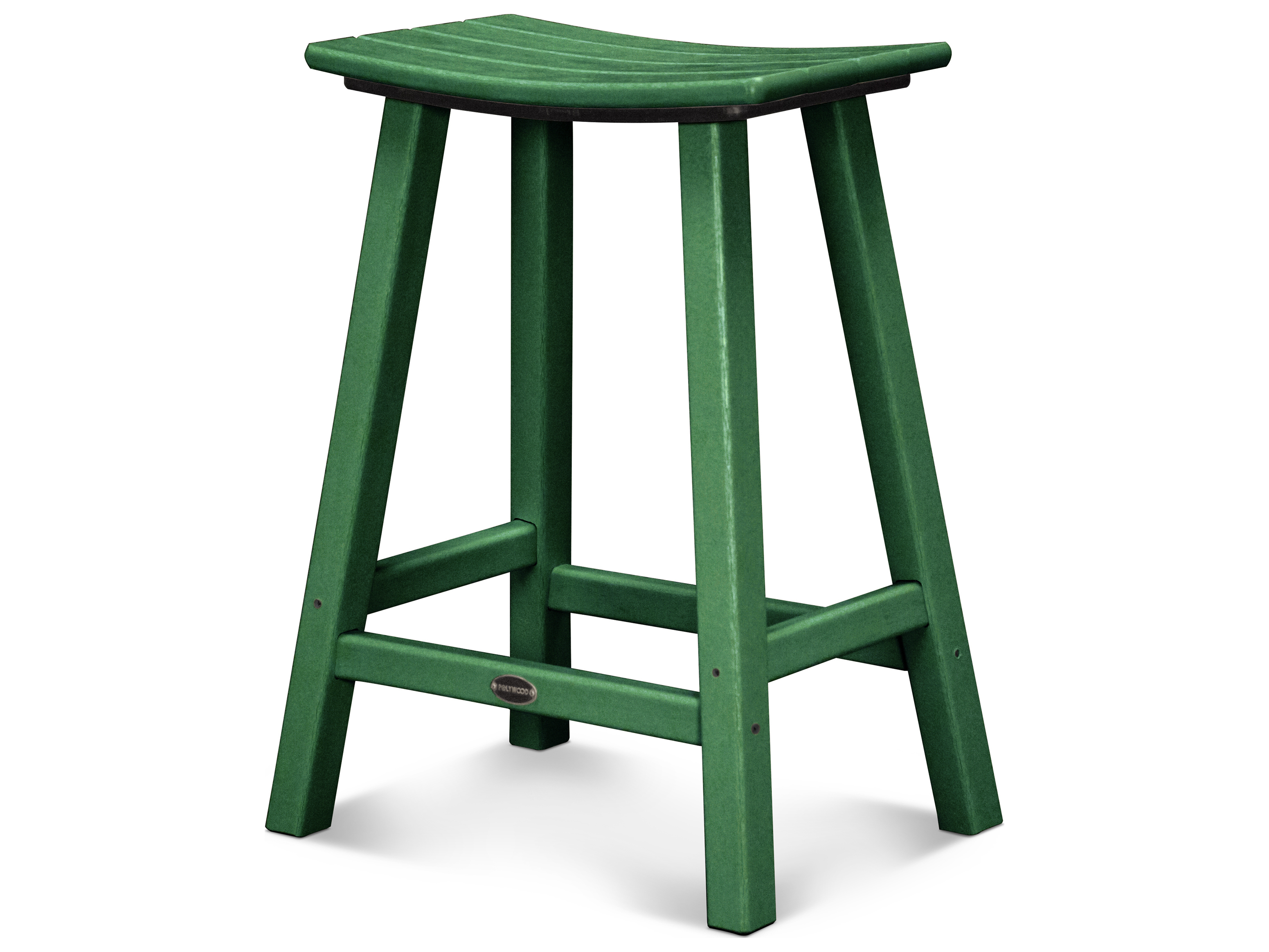 polywood contempo recycled plastic saddle bar stool pw2001 bar stool ...