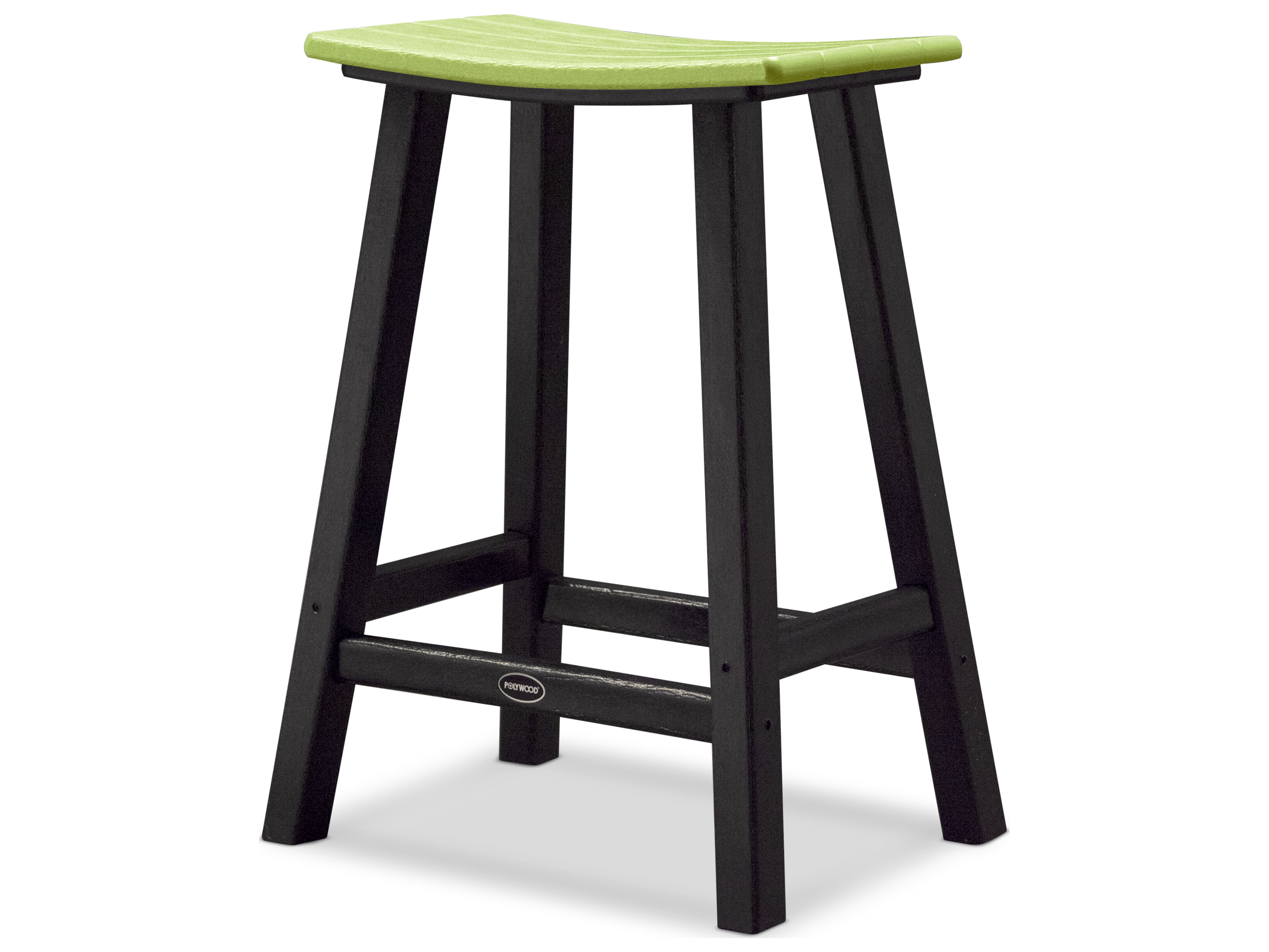 polywood contempo recycled plastic saddle bar stool pw2011 bar stool ...