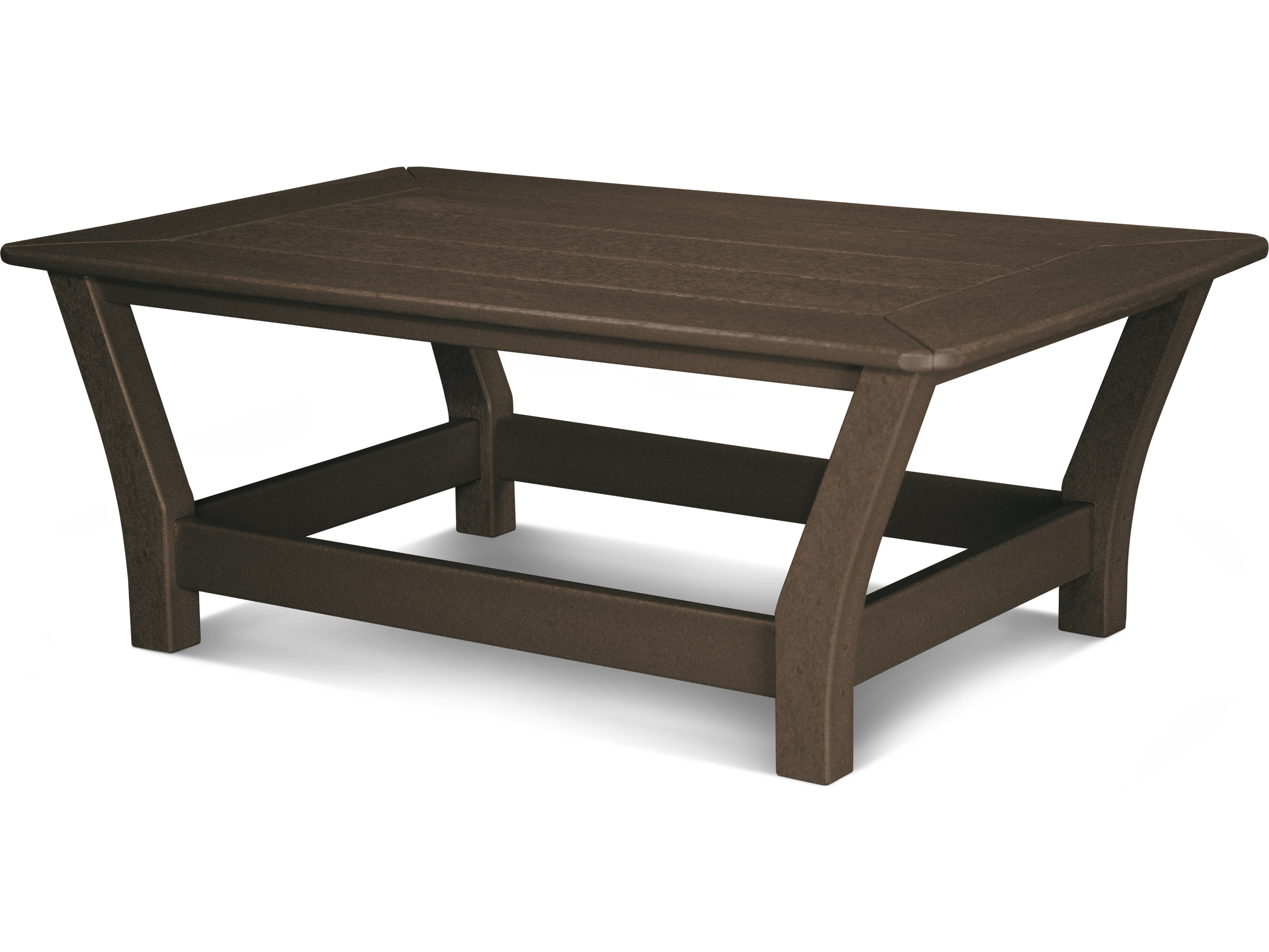 Harbour Recycled Plastic 44 X 27 Rectangular Slat Coffee Table 4019