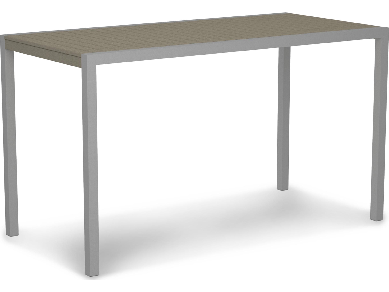 Polywood 174 mod aluminum 73 x 36 rectangular bar table 8302