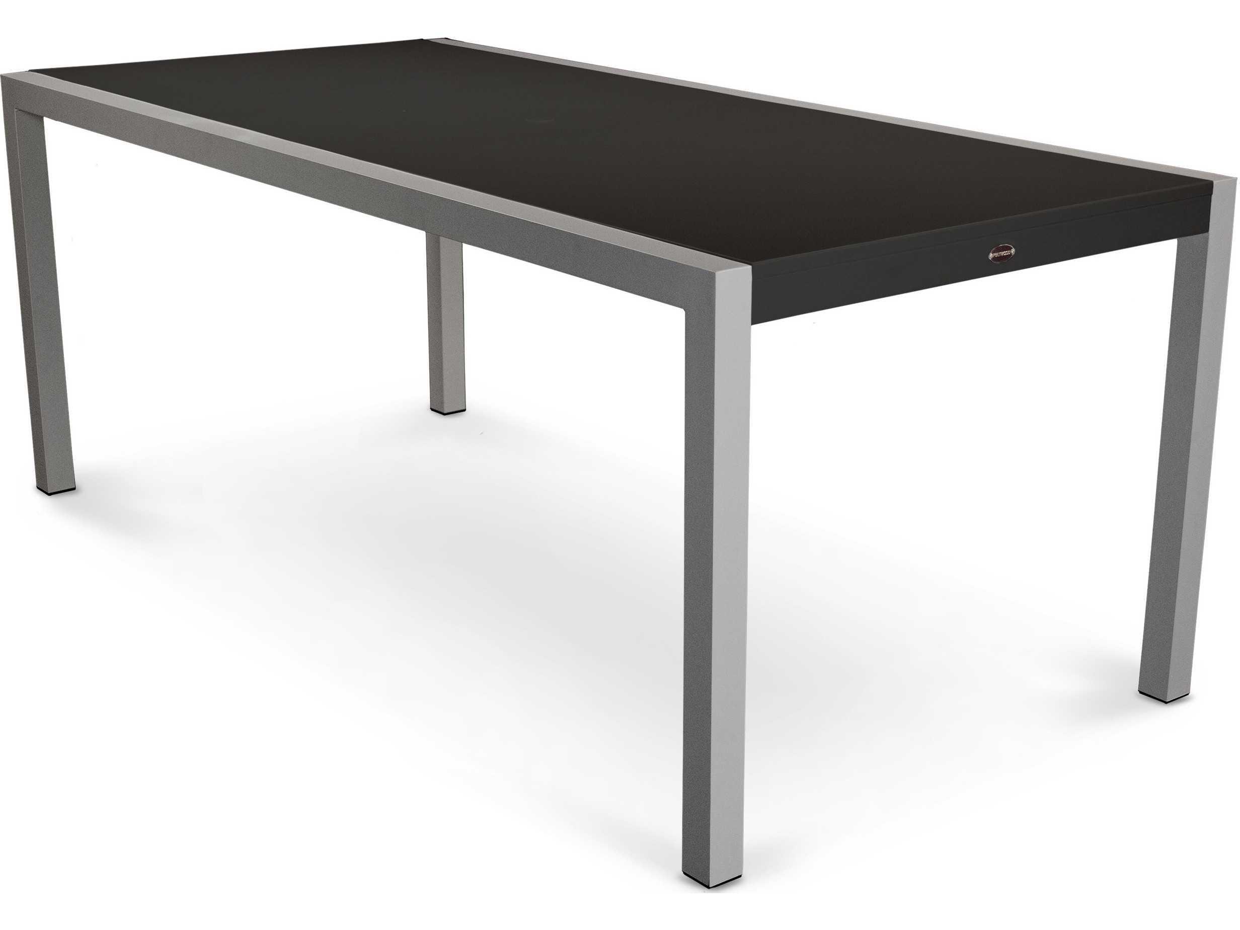 Polywood 174 Mod Aluminum Rectangular Patio Dining Table 8320