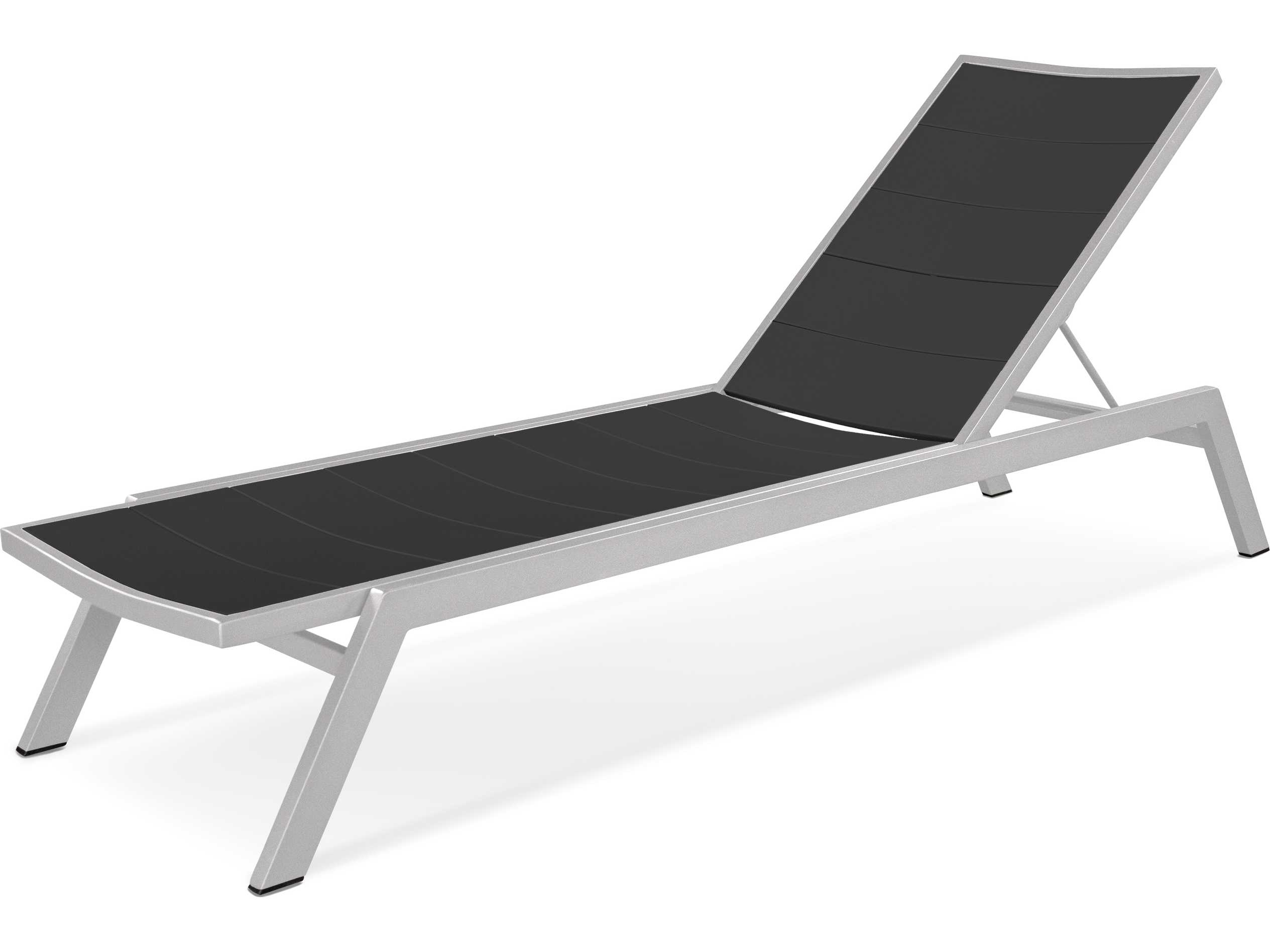 Polywood metro aluminum adjustable chaise lounge ac120 for Chaise lounge aluminum