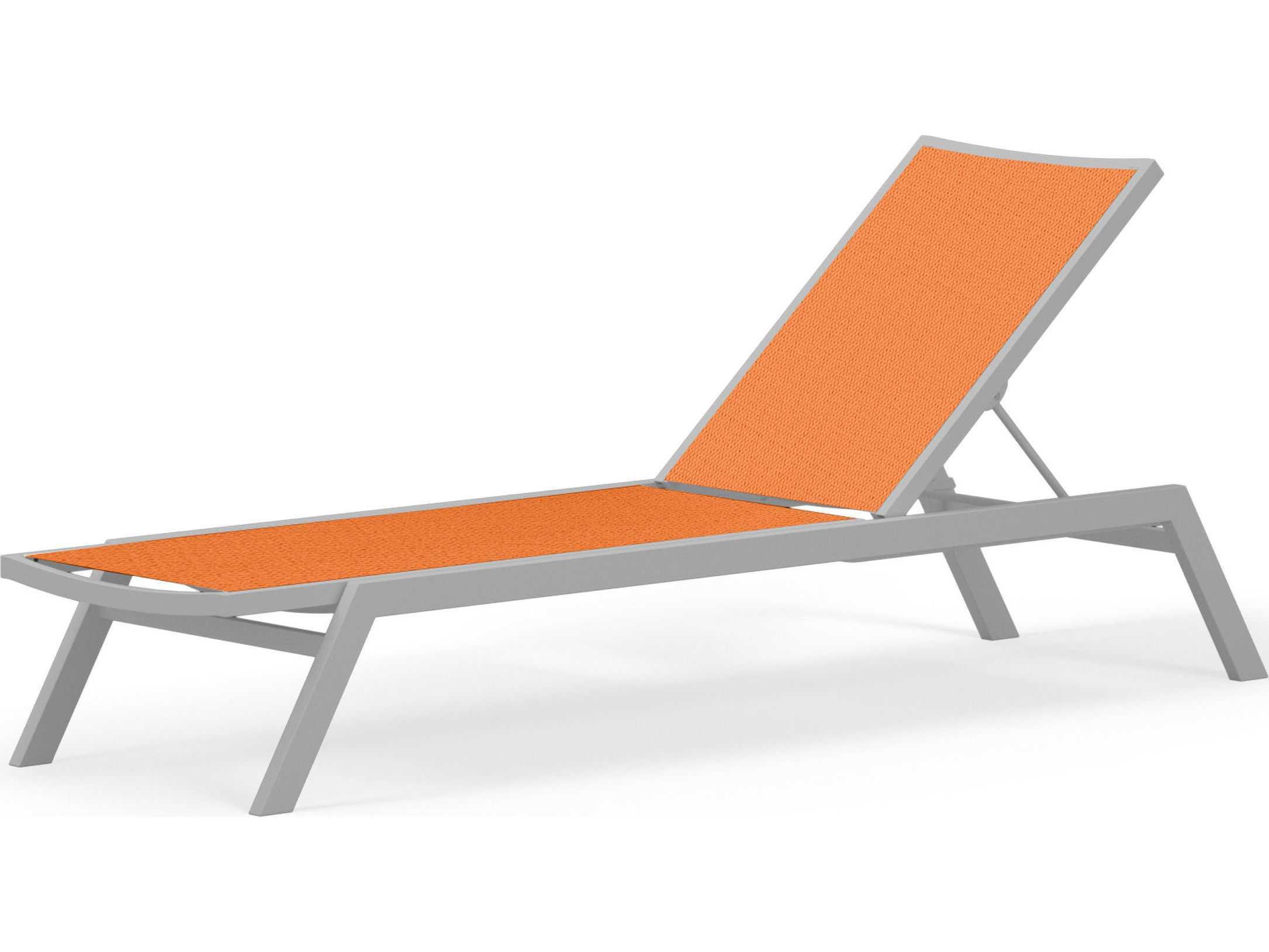 Polywood bayline sling aluminum chaise lounge ac190 for Aluminum strap chaise lounge