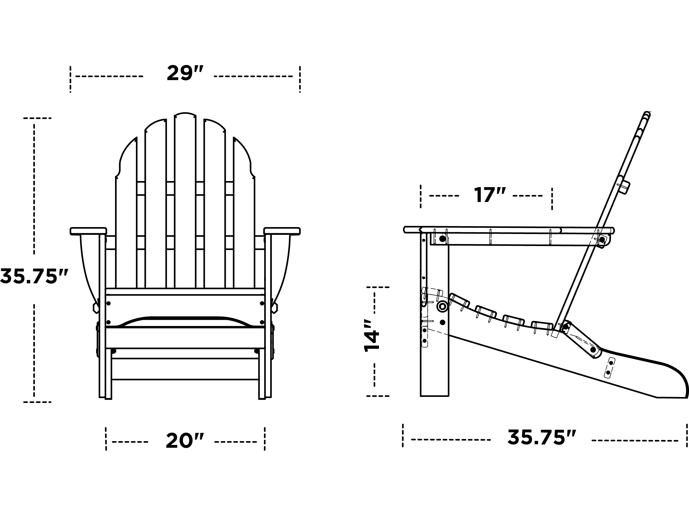 Polywood Classic Adirondack Recycled Plastic Chair Ad5030