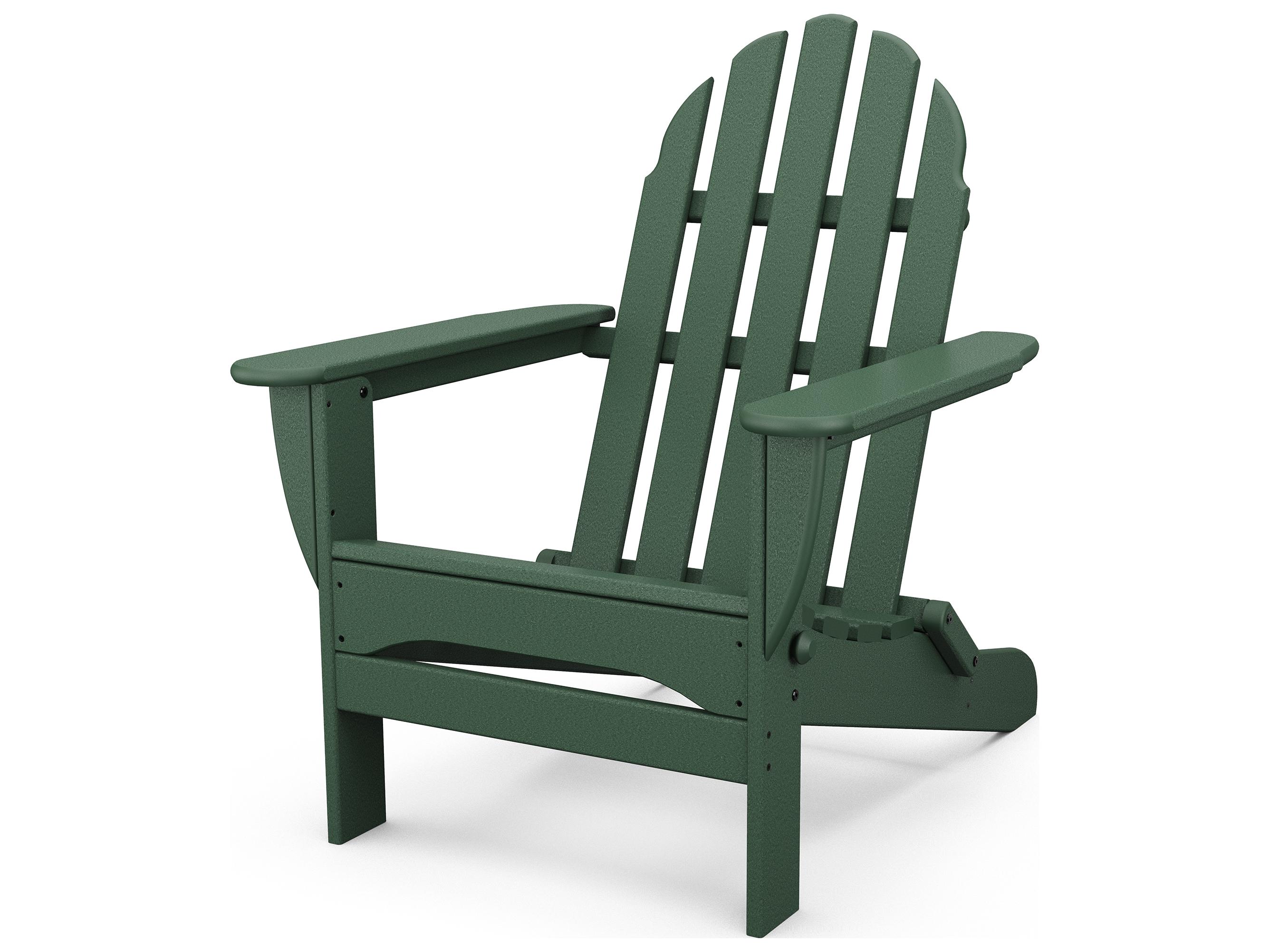 Polywood 174 Classic Adirondack Recycled Plastic Lounge Set