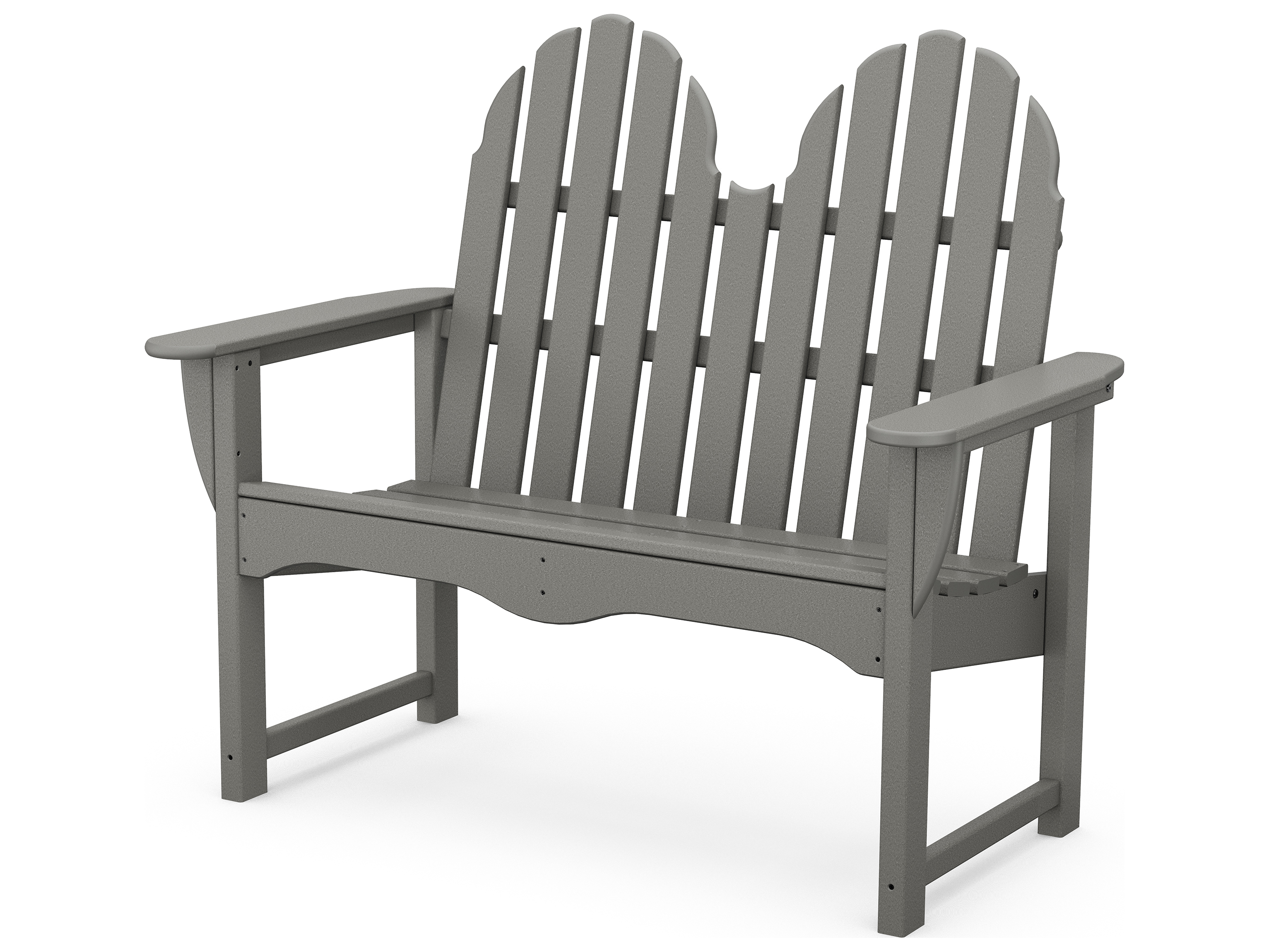 Polywood classic adirondack recycled plastic 48 bench adbn 1 Polywood bench